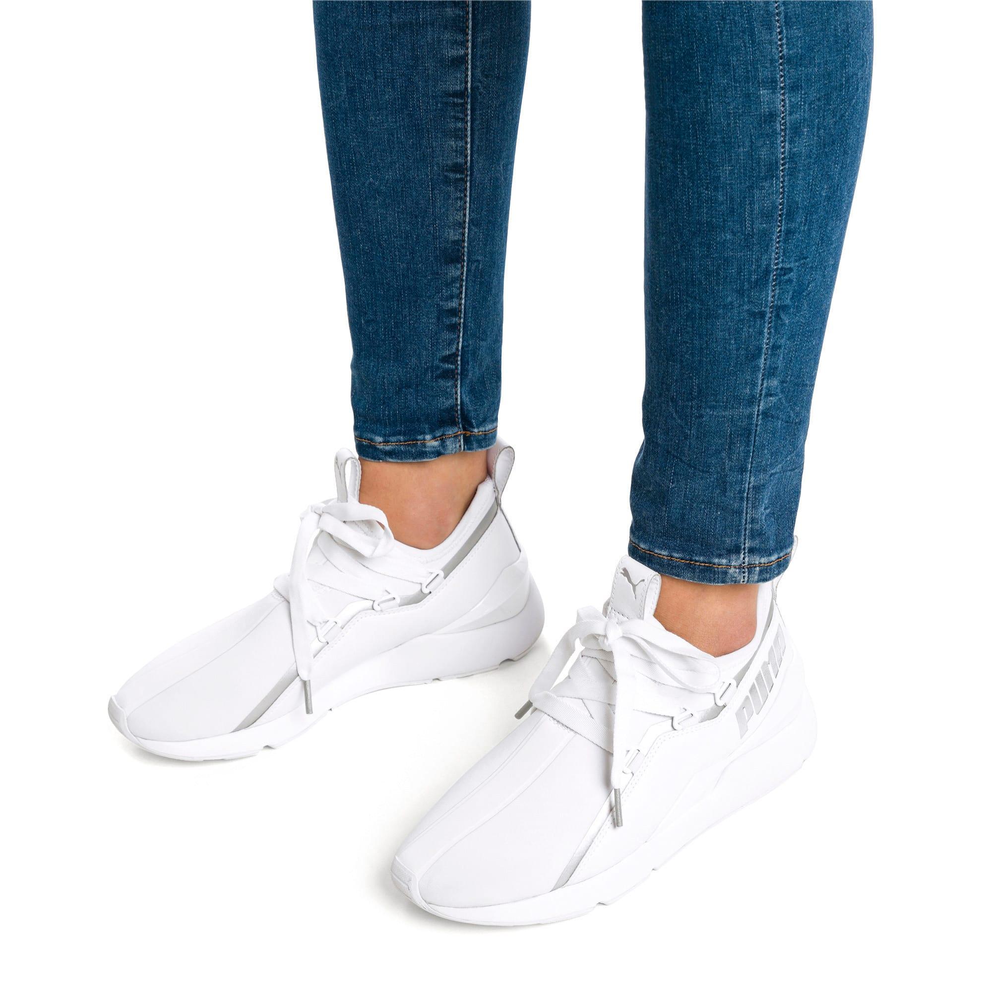 Thumbnail 2 of Muse 2 Trailblazer Women's Sneakers, Puma White-Puma Silver, medium