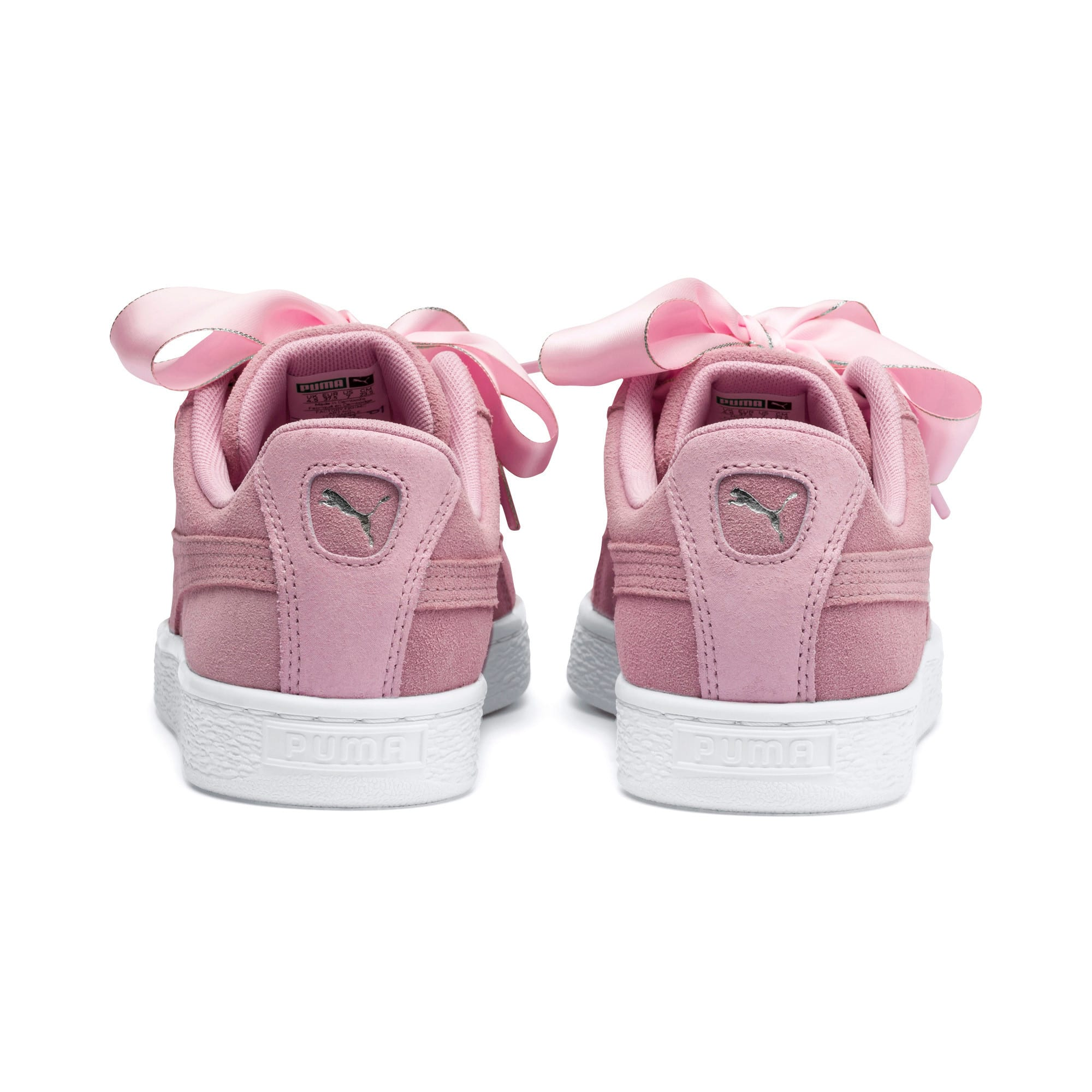 Thumbnail 4 of Suede Heart Galaxy Women's Shoes, Pale Pink-Puma Silver, medium-IND