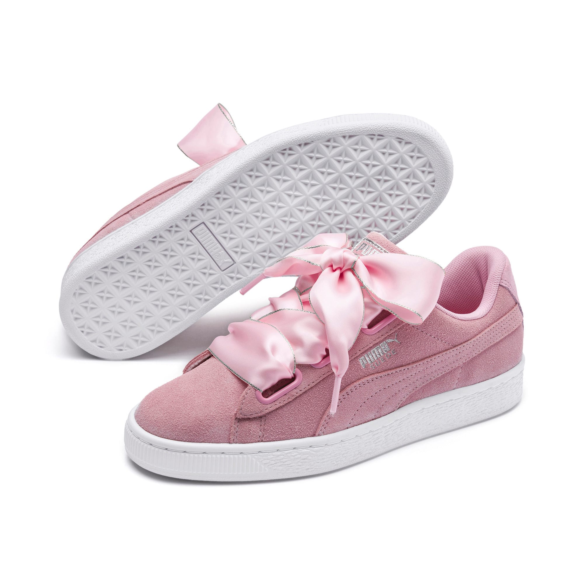 Thumbnail 3 of Suede Heart Galaxy Women's Shoes, Pale Pink-Puma Silver, medium-IND