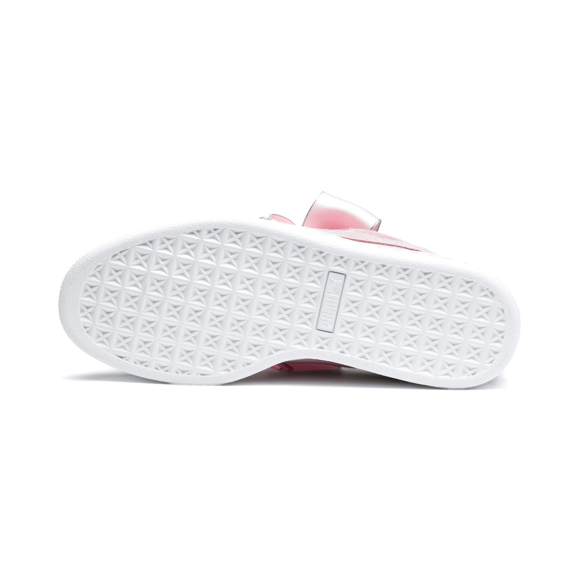 Thumbnail 5 of Suede Heart Galaxy Women's Shoes, Pale Pink-Puma Silver, medium-IND