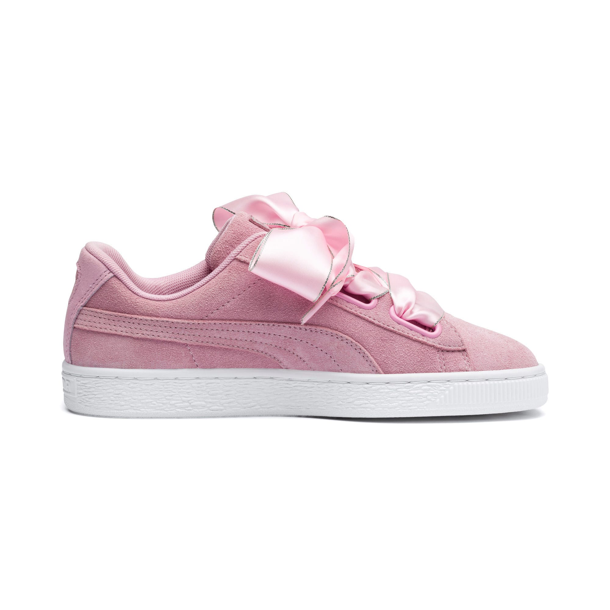 Thumbnail 6 of Suede Heart Galaxy Women's Shoes, Pale Pink-Puma Silver, medium-IND