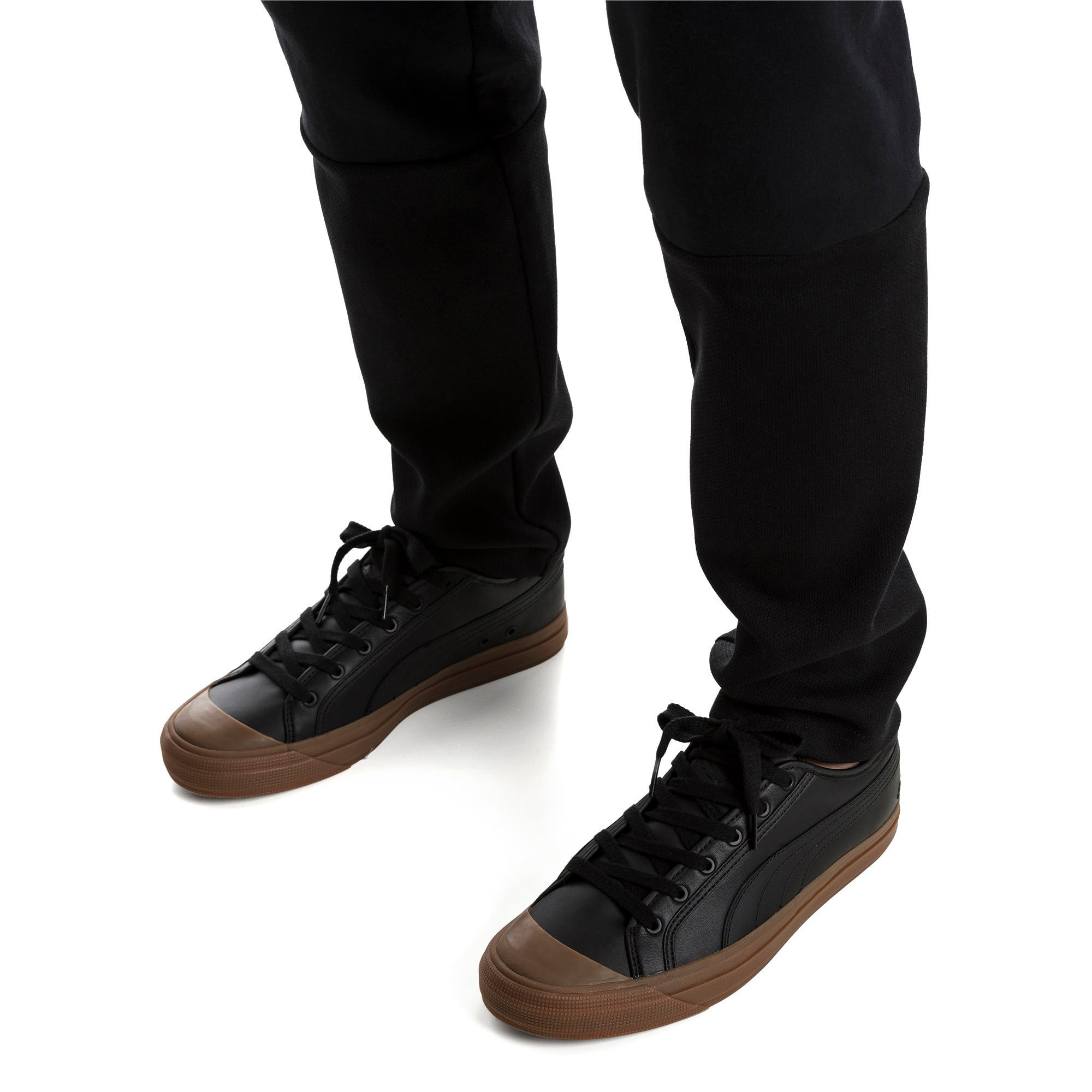 Thumbnail 2 of Capri Leather Trainers, Puma Black-Gum-Gum, medium-IND