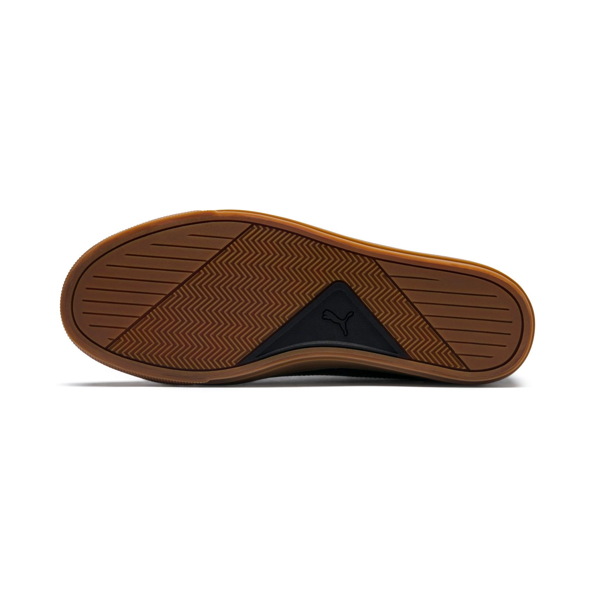 Thumbnail 6 of Capri Leather Trainers, Puma Black-Gum-Gum, medium-IND