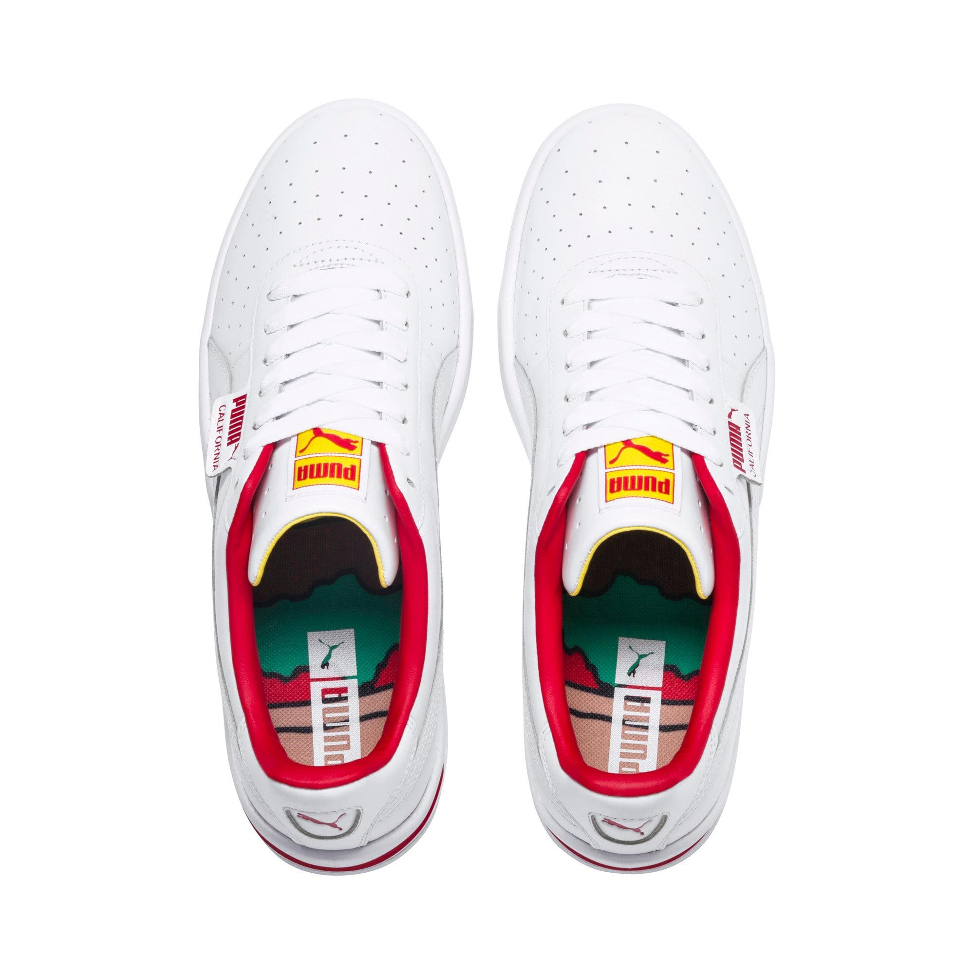 Thumbnail 7 of California Drive Thru Shoes, P Wht-HighRiskRed-Blazg Yelw, medium