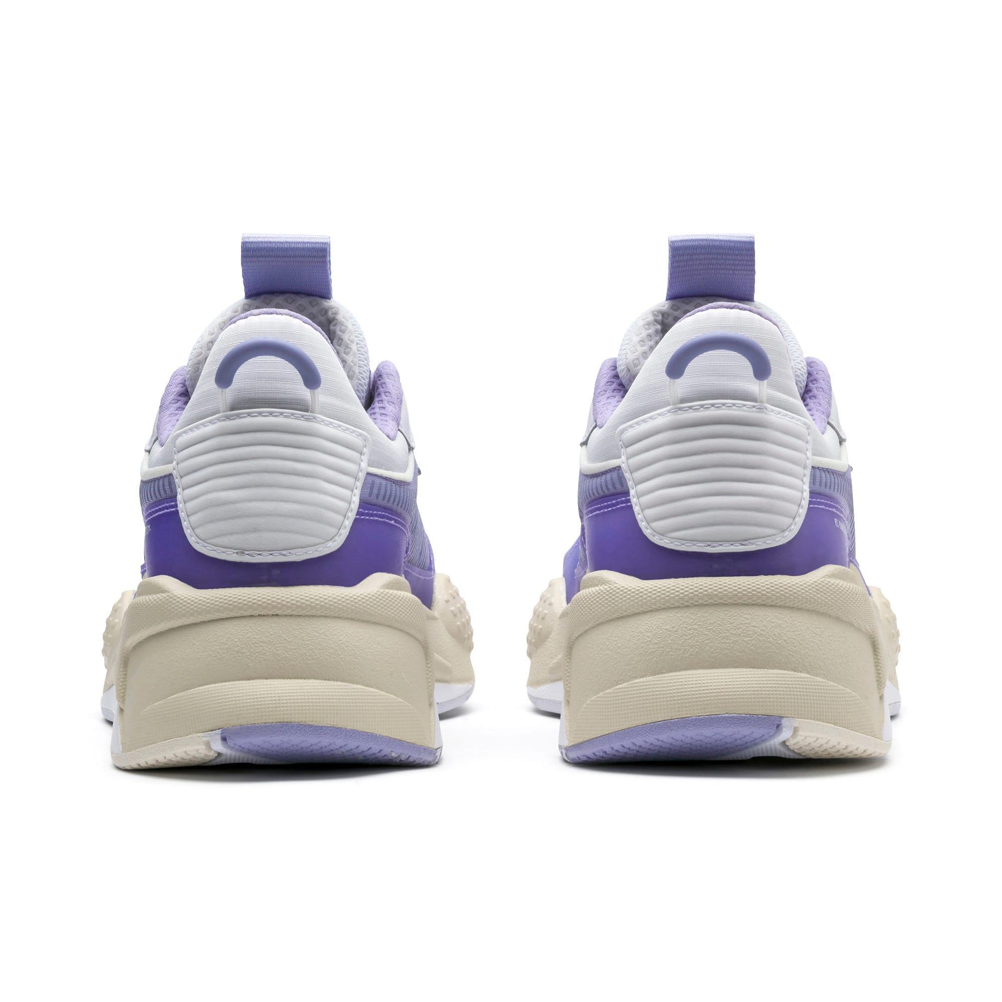 Thumbnail 3 of RS-X Tech Sneaker, Puma White-Sweet Lavender, medium