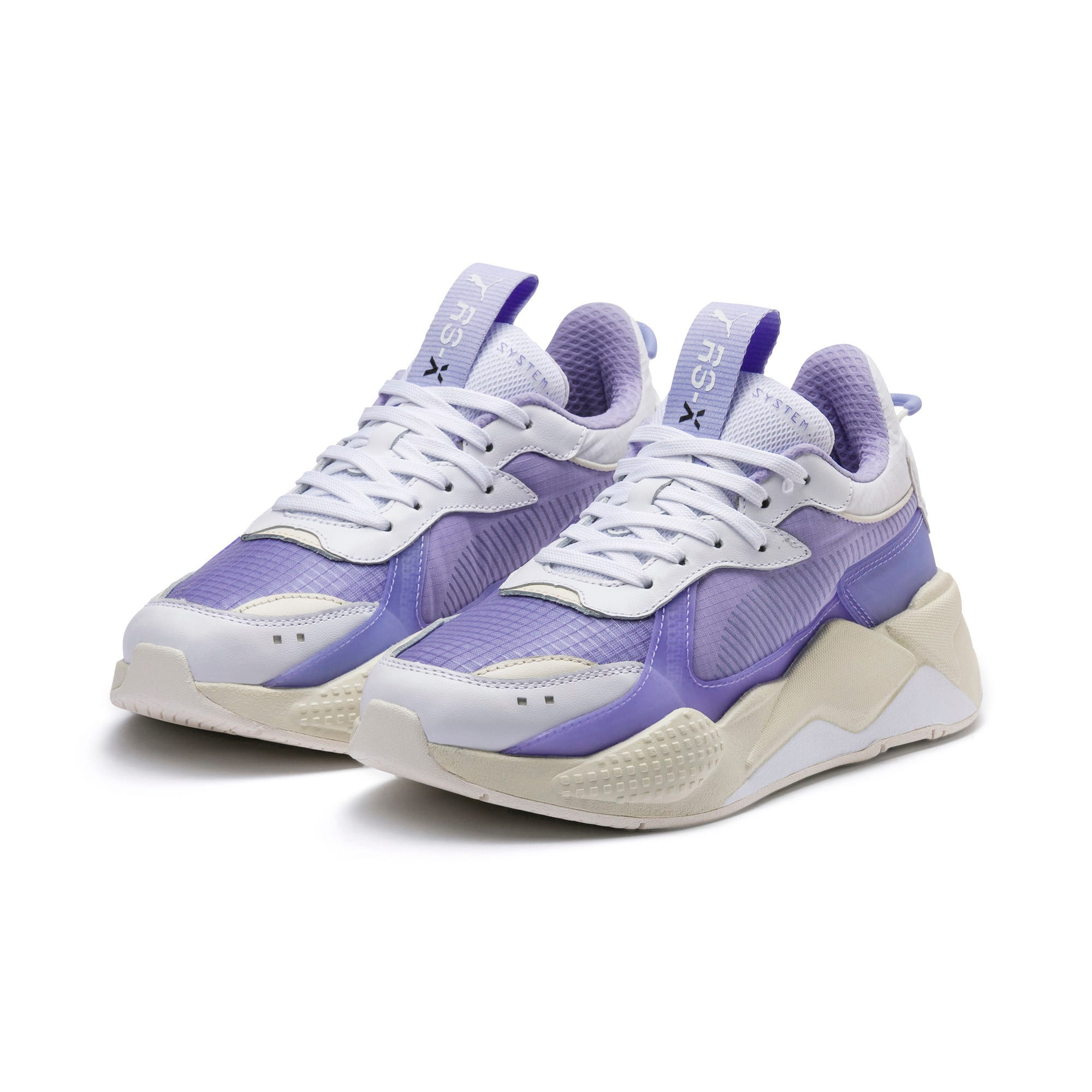 Thumbnail 2 of RS-X Tech Sneaker, Puma White-Sweet Lavender, medium