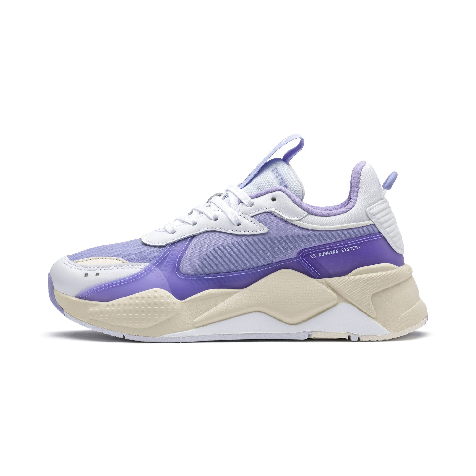 Thumbnail 1 of RS-X Tech Sneaker, Puma White-Sweet Lavender, medium
