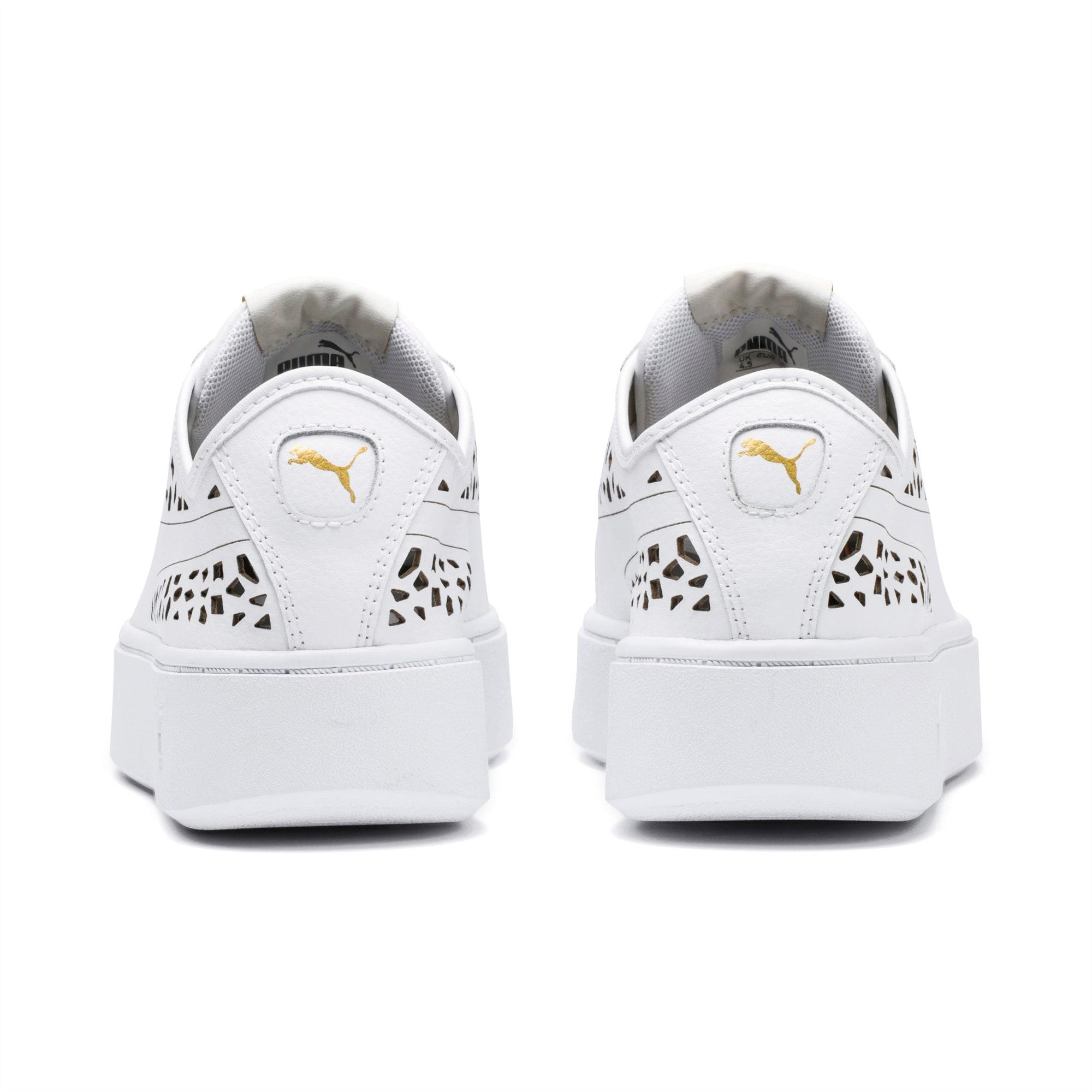 Vikky Stacked Laser Cut Damen Sneaker | Puma White Puma
