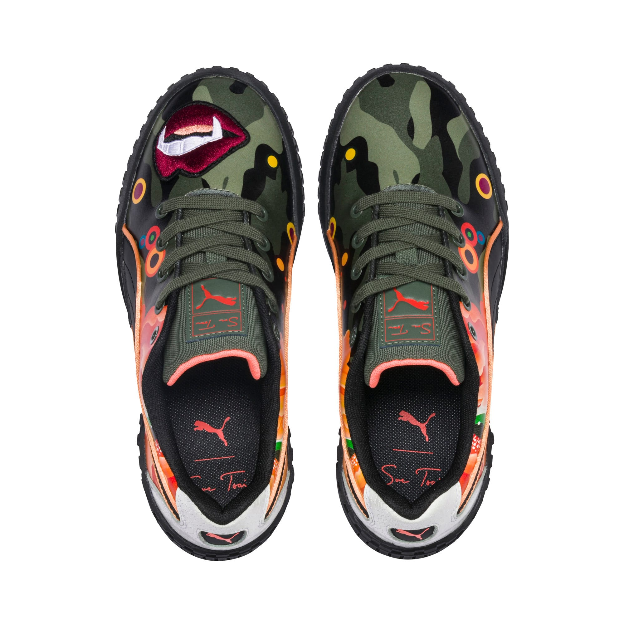 Thumbnail 7 of PUMA x SUE TSAI Cali 'Peonies Camo' sneakers voor dames, Puma Black-Puma Black, medium