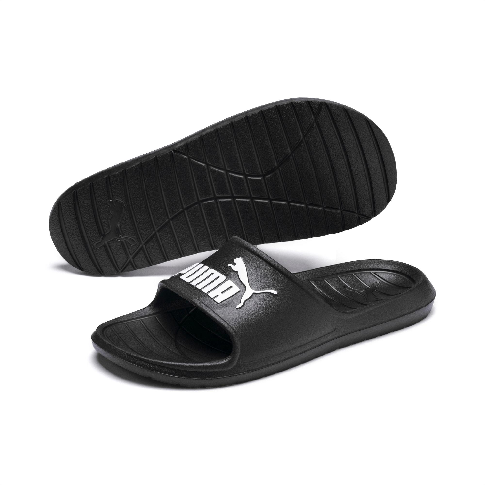 Divecat v2 Slides, Puma Black-Puma White, extralarge