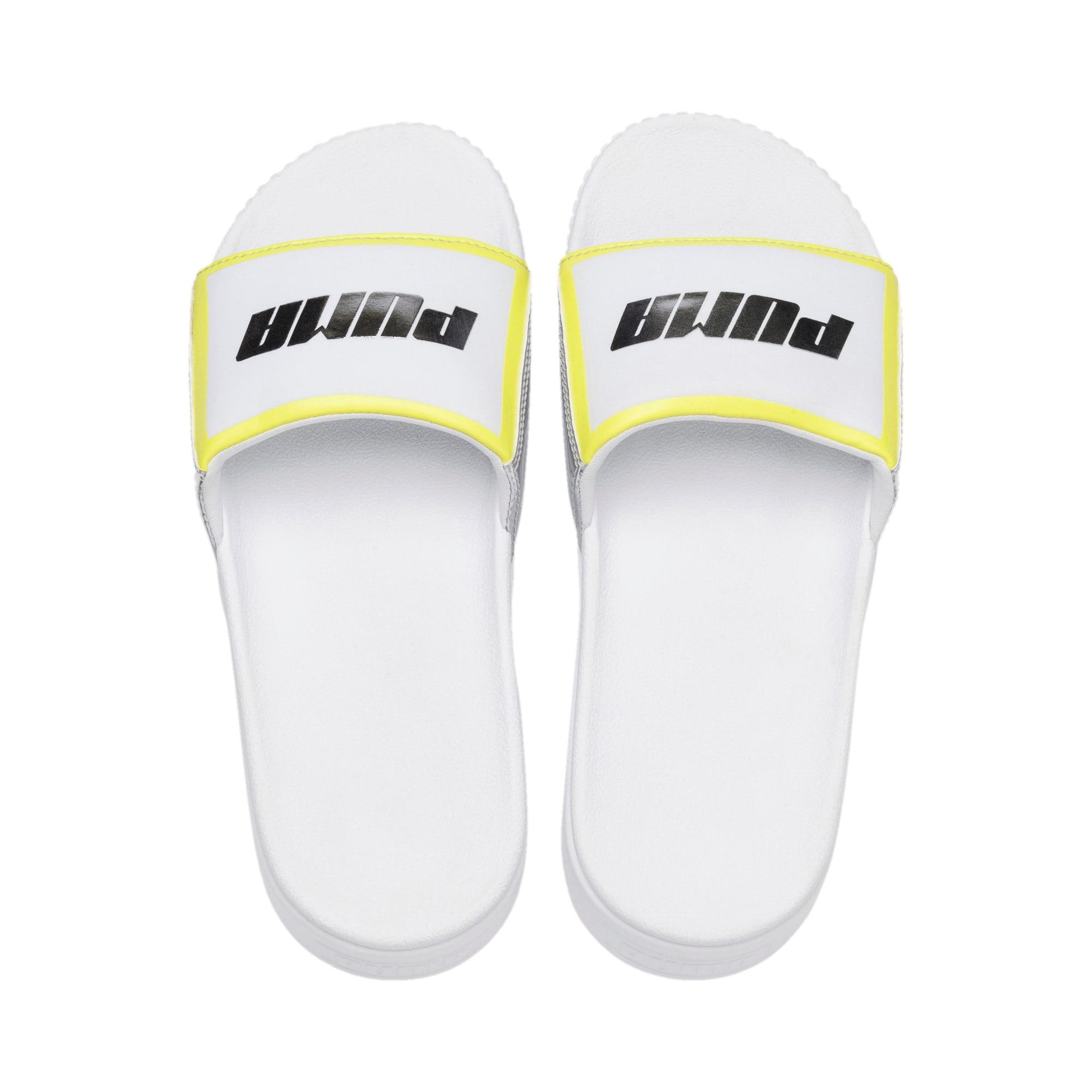 Thumbnail 6 of Platform Slide Trailblazer Metallic Women's Sandals, Puma White-Puma Silver, medium
