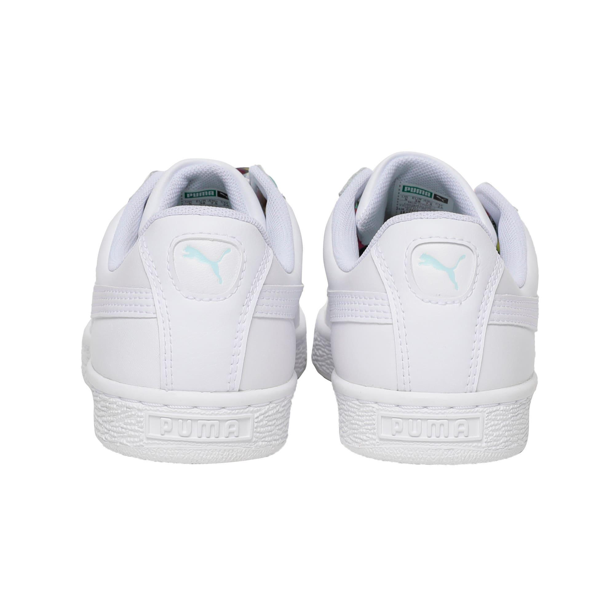 Thumbnail 4 of Basket Heart Gen Hustle Women's Sneakers, Puma White-Fair Aqua, medium-IND