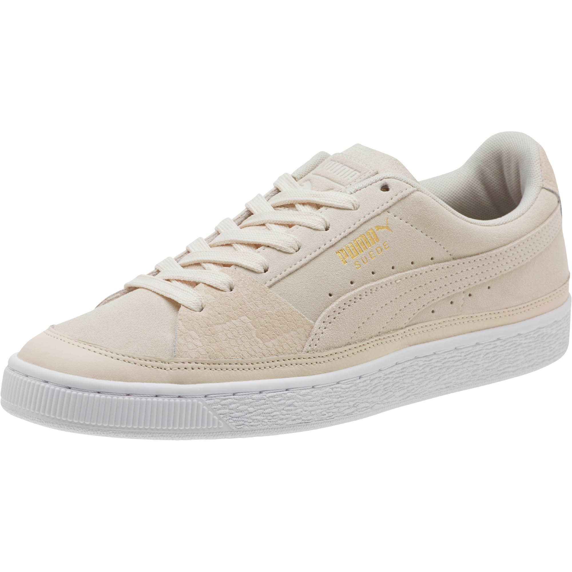 Thumbnail 1 of Suede Skate Premium Sneakers, Whisper White-Puma White, medium