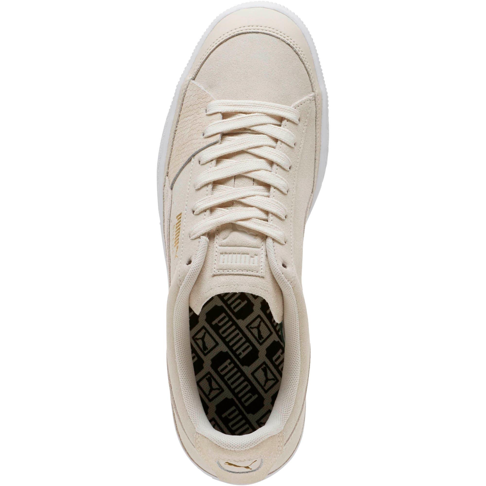 Thumbnail 5 of Suede Skate Premium Sneakers, Whisper White-Puma White, medium