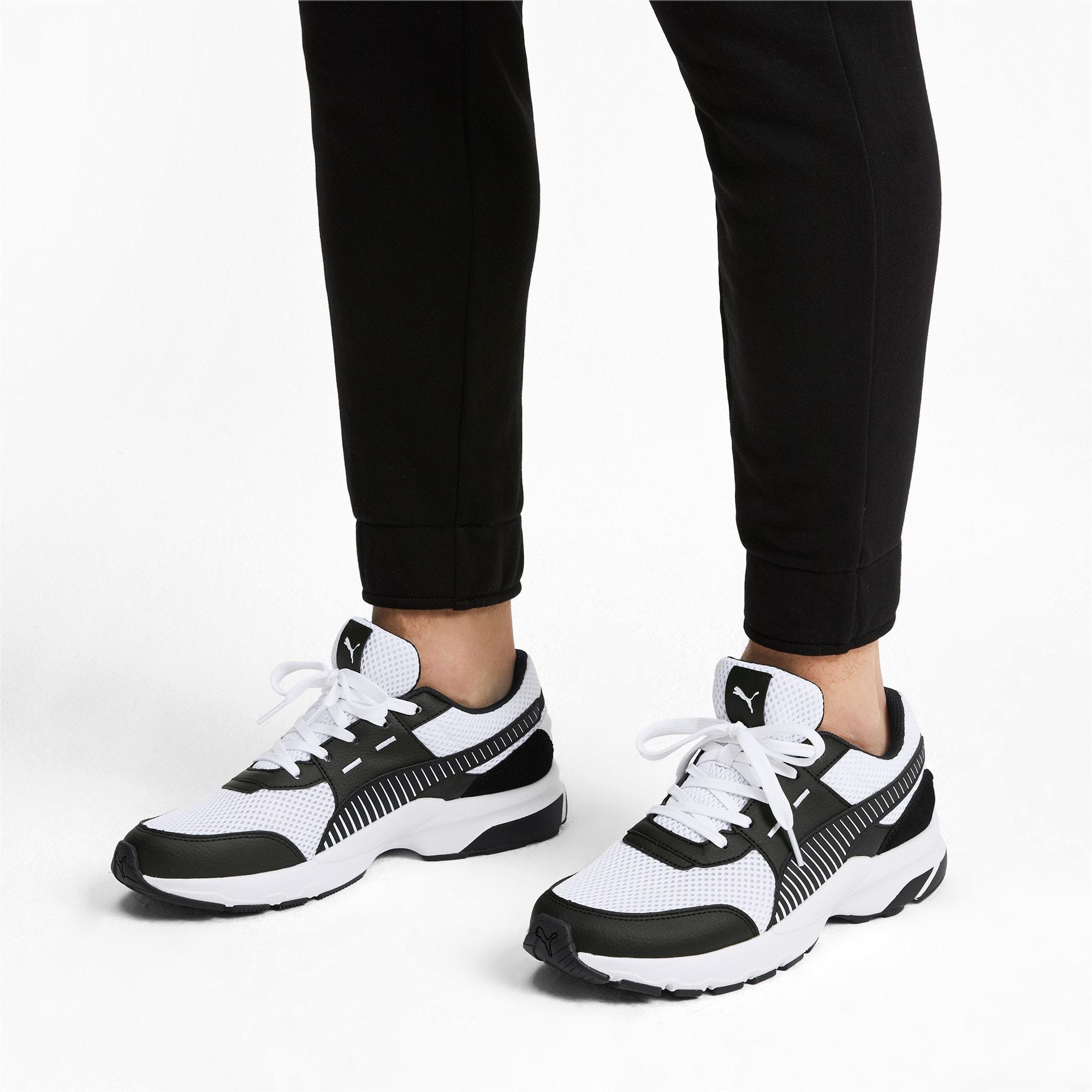 Thumbnail 2 of Future Runner Premium Running Shoes, Puma White-Puma Black, medium-IND