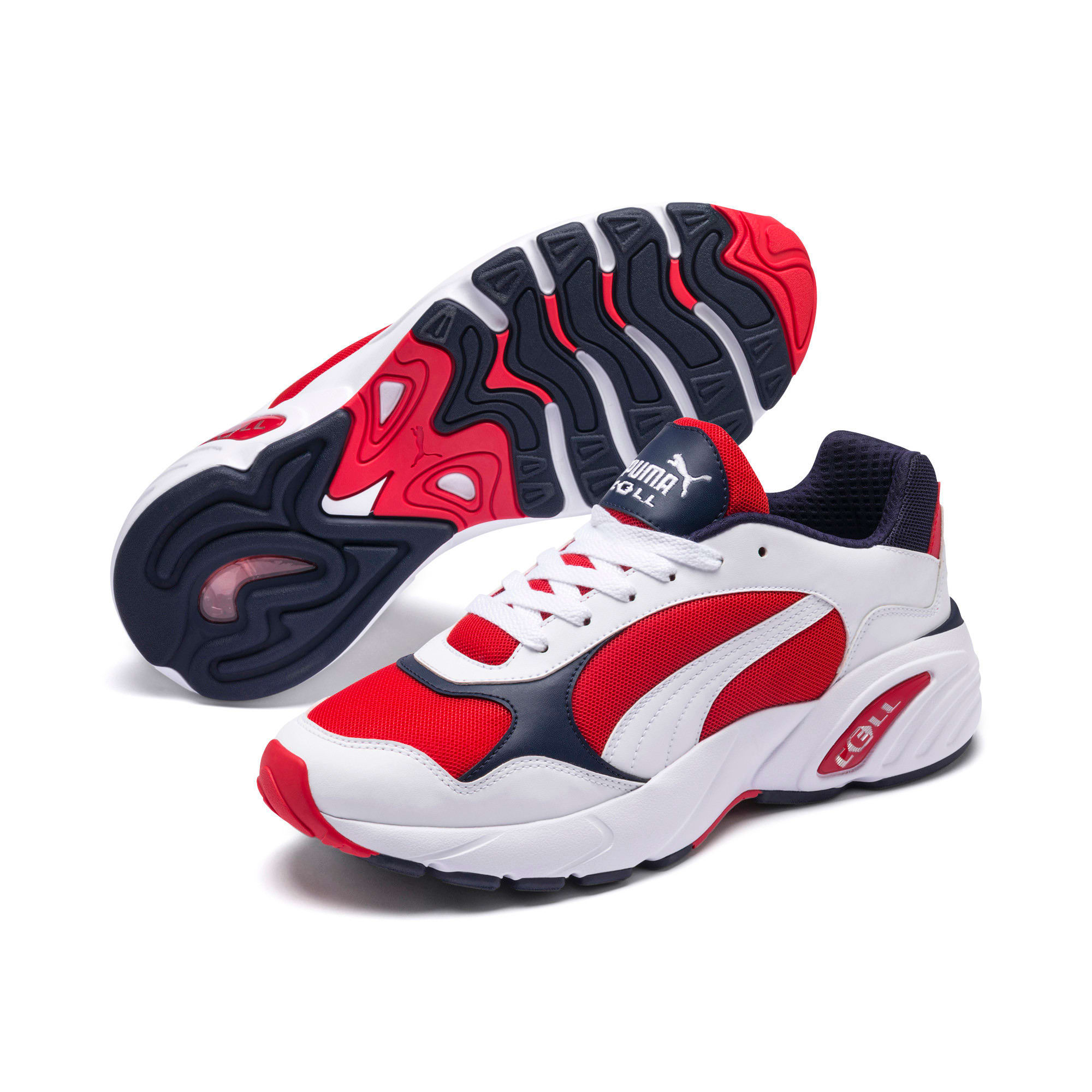 Thumbnail 2 of CELL Viper Sneakers, Puma White-High Risk Red, medium
