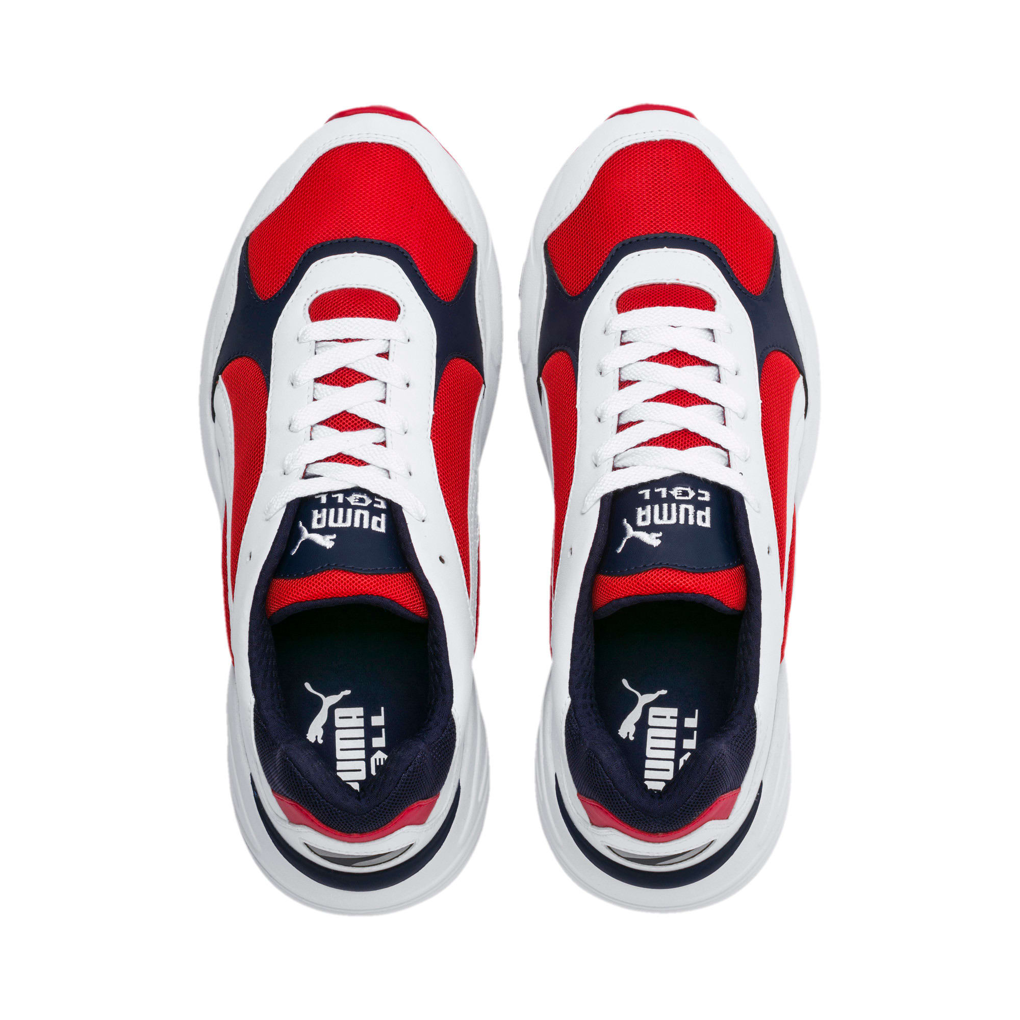 Thumbnail 6 of CELL Viper Sneakers, Puma White-High Risk Red, medium