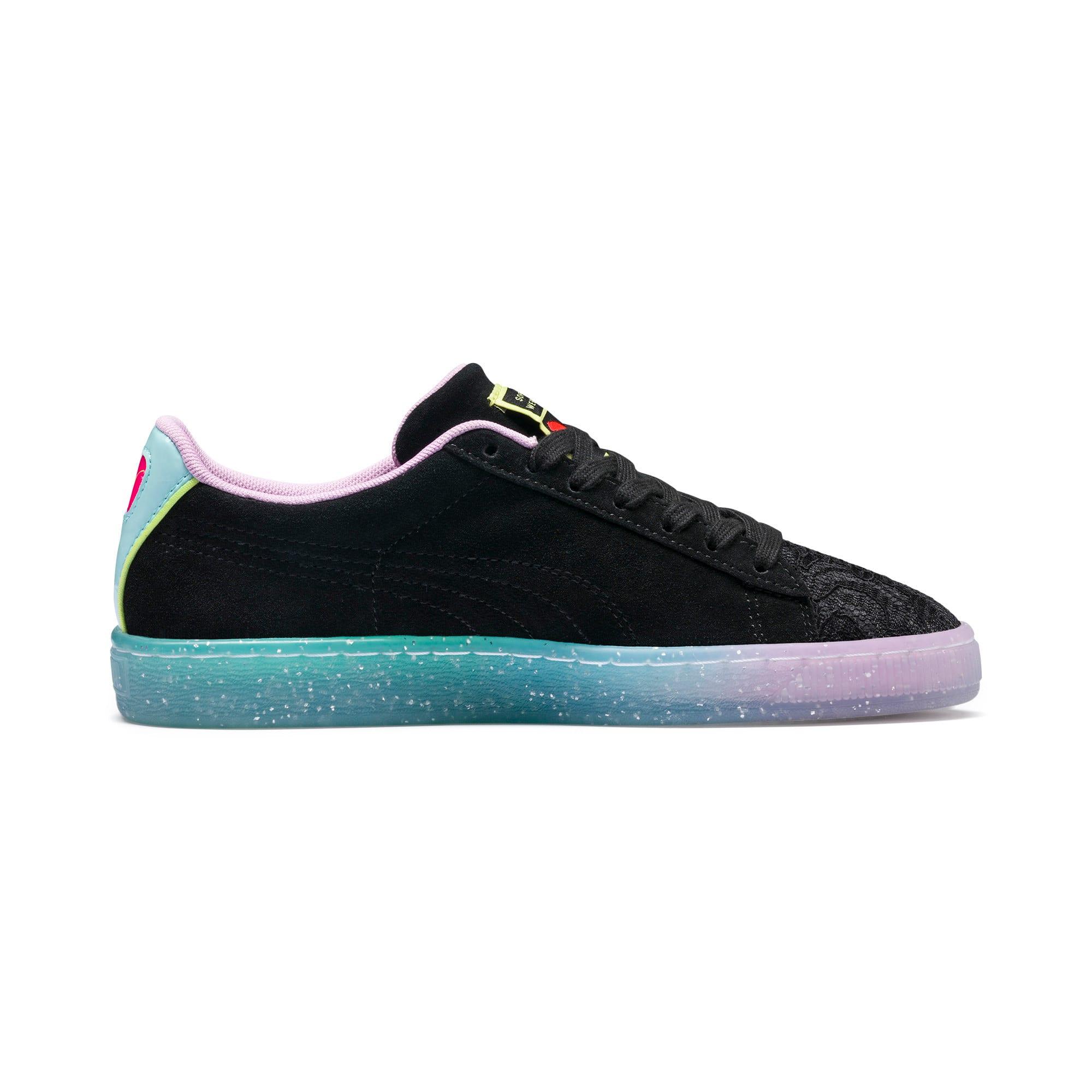 Miniatura 6 de Zapatos deportivosPUMA x SOPHIA WEBSTER Suede para mujer, Puma Black-Fiery Coral, mediano