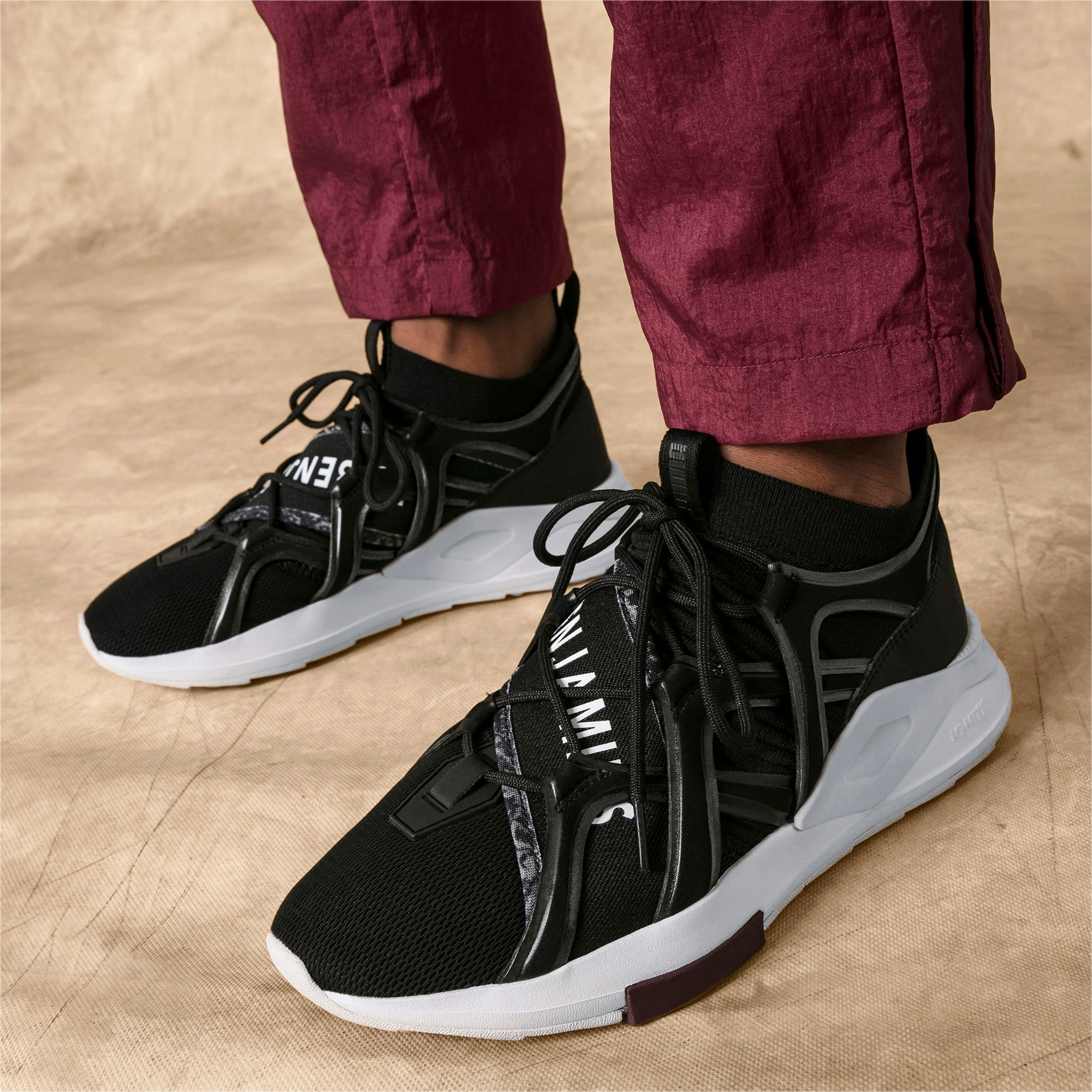 Thumbnail 2 of PUMA x LES BENJAMINS SHOKU Sneakers, Puma Black, medium
