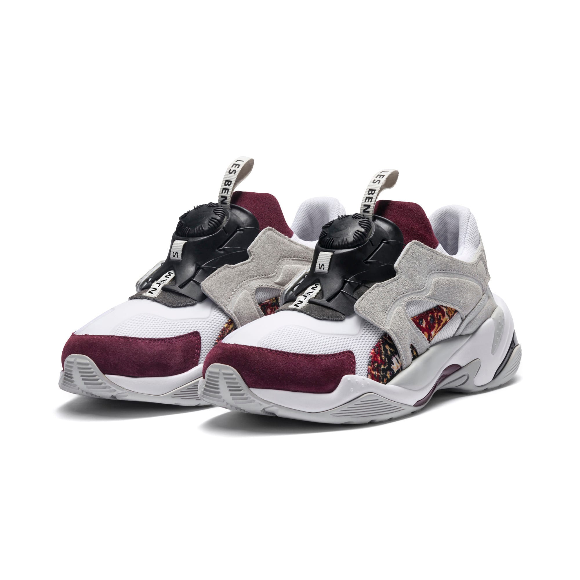 Thumbnail 3 of PUMA x LES BENJAMINS Thunder DISC Men's Sneakers, Puma White-Glacier Gray, medium