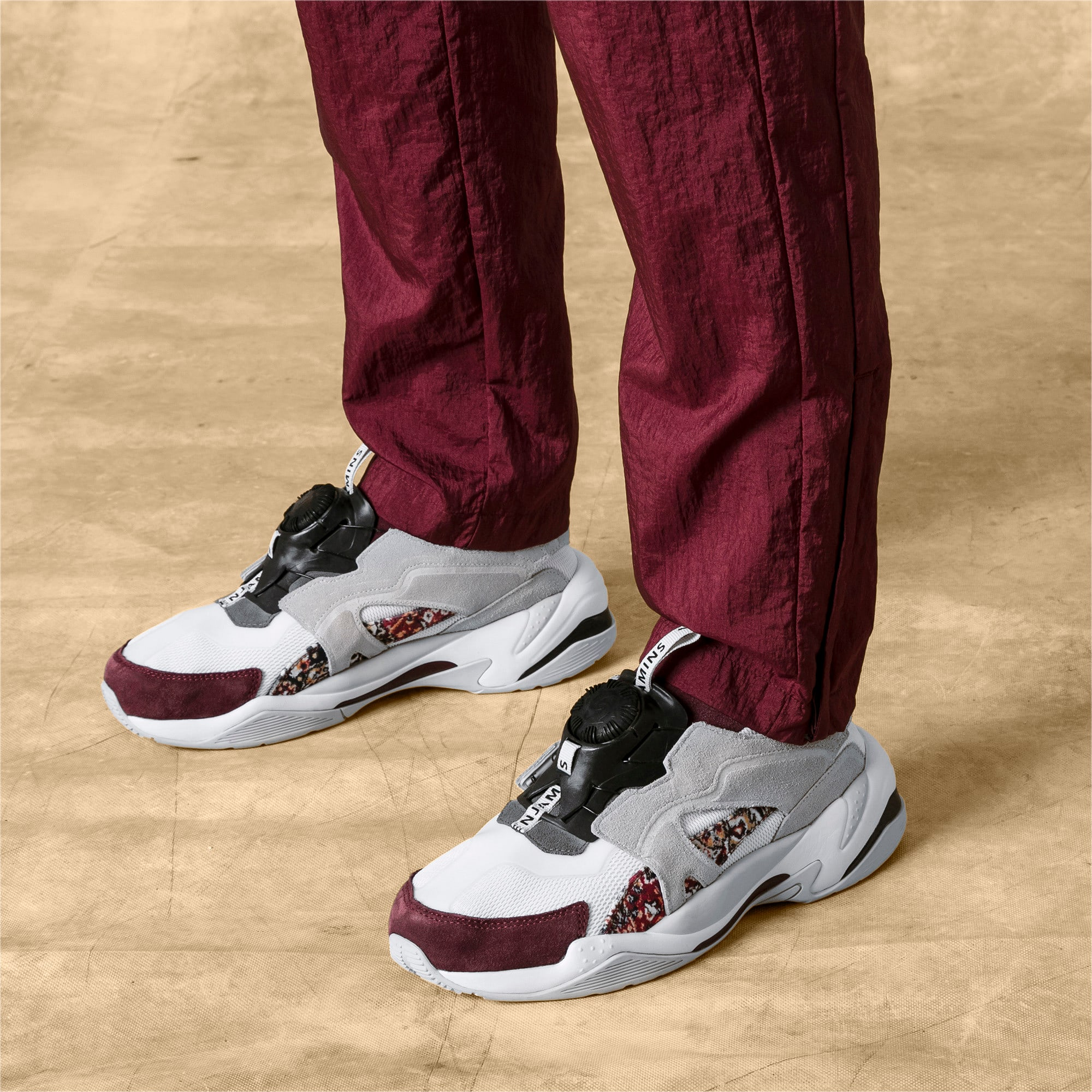Thumbnail 2 of PUMA x LES BENJAMINS Thunder DISC Men's Sneakers, Puma White-Glacier Gray, medium