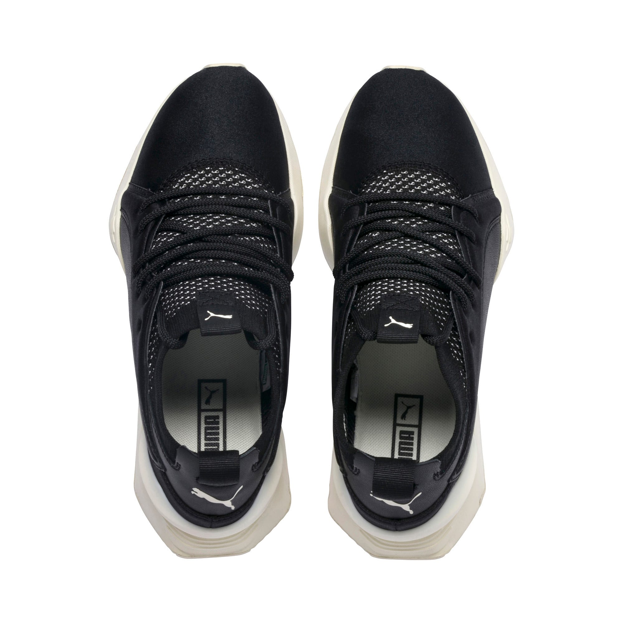 Thumbnail 7 of Muse Maia Knit Premium Damen Sneaker, Puma Black-Whisper White, medium