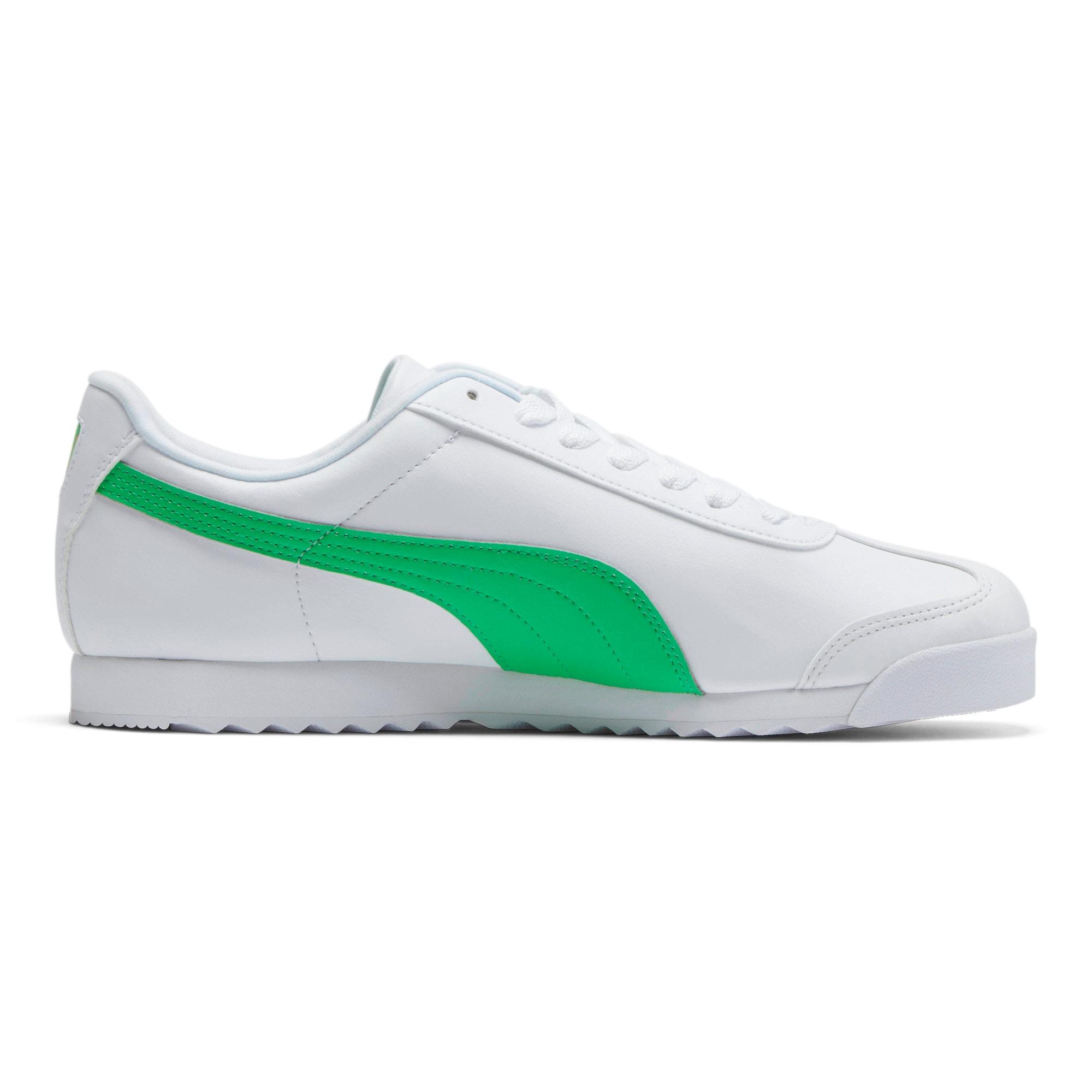 Miniatura 5 de Zapatos deportivos Roma Basic +, Puma White-Irish Green, mediano
