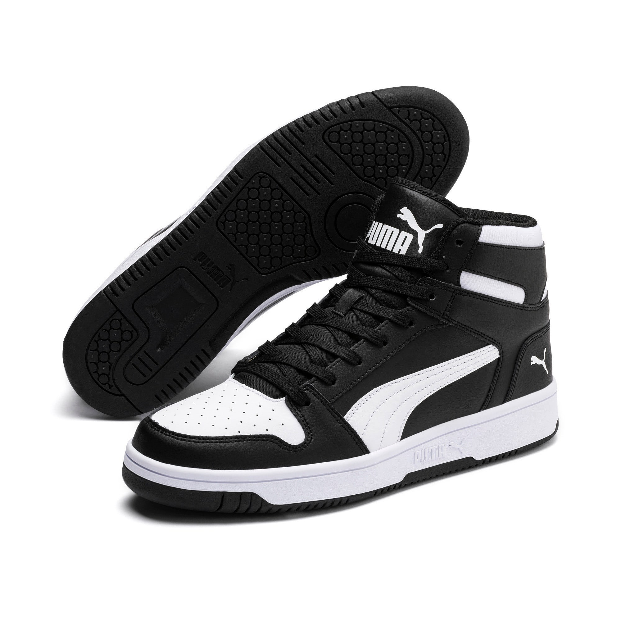 Thumbnail 2 of PUMA Rebound LayUp Sneakers, Puma Black-Puma White, medium