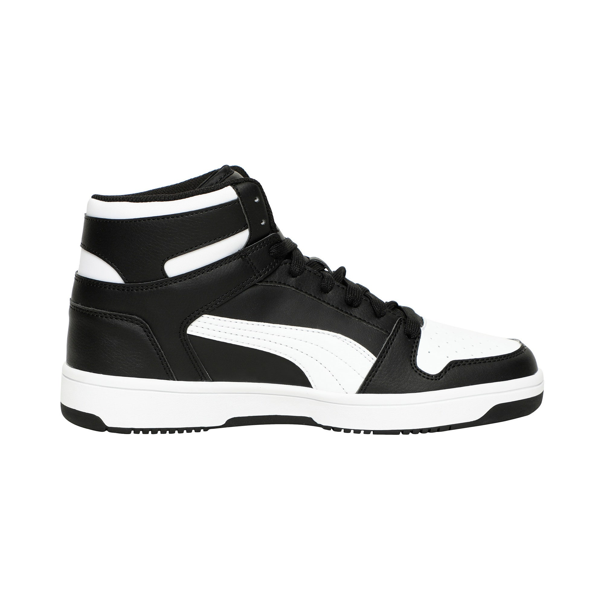 Thumbnail 5 of PUMA Rebound LayUp Sneakers, Puma Black-Puma White, medium
