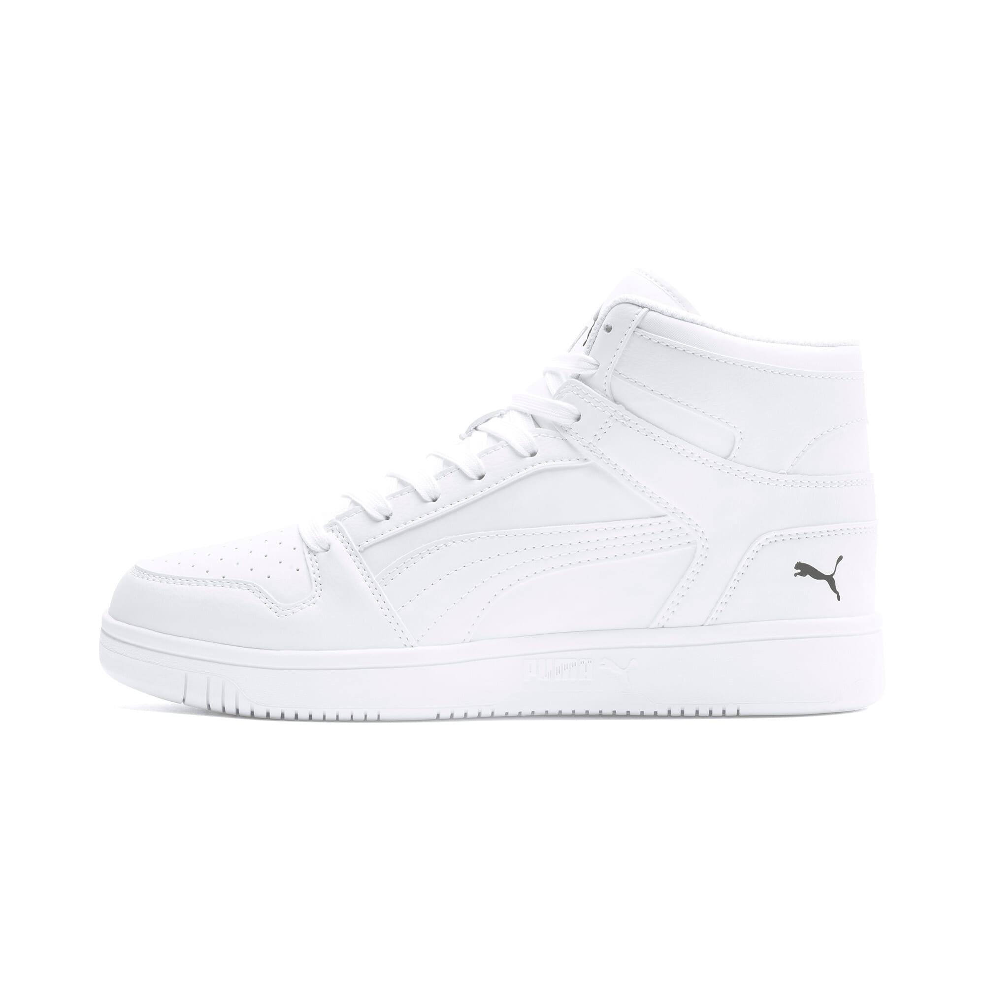 Thumbnail 1 of PUMA Rebound LayUp Sneakers, Puma White-Puma Black, medium
