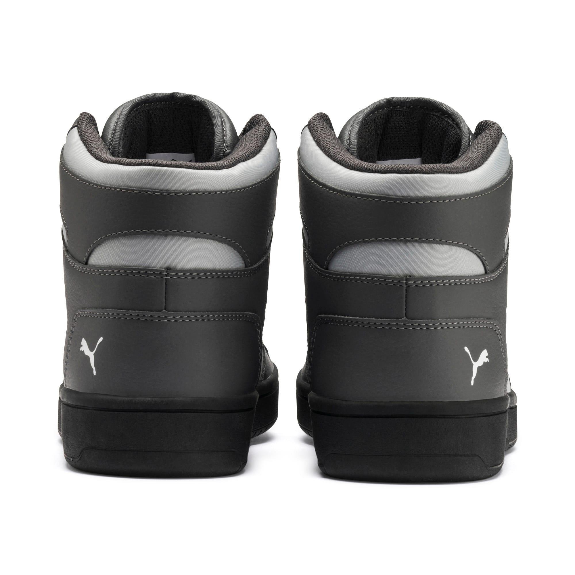 Thumbnail 4 of PUMA Rebound LayUp Sneakers, CASTLEROCK-HRise-White-Black, medium