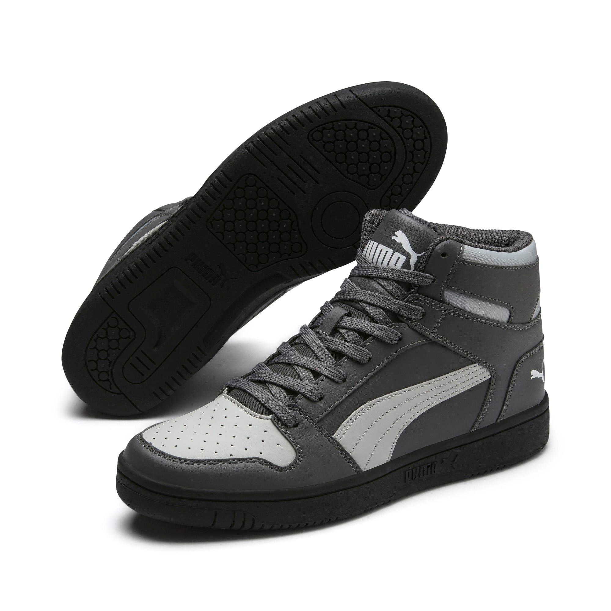 Thumbnail 2 of PUMA Rebound LayUp Sneakers, CASTLEROCK-HRise-White-Black, medium