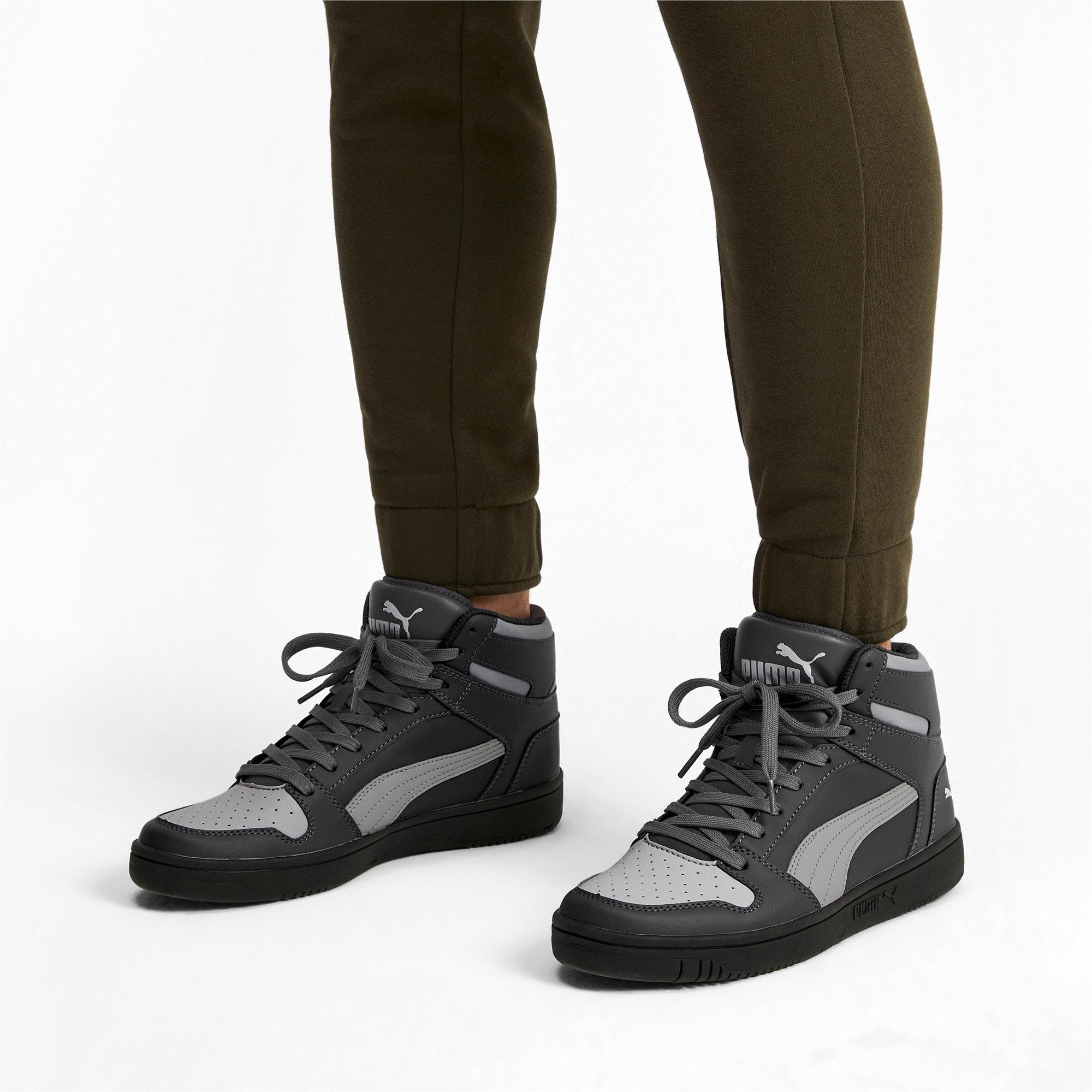 Thumbnail 3 of PUMA Rebound LayUp Sneakers, CASTLEROCK-HRise-White-Black, medium