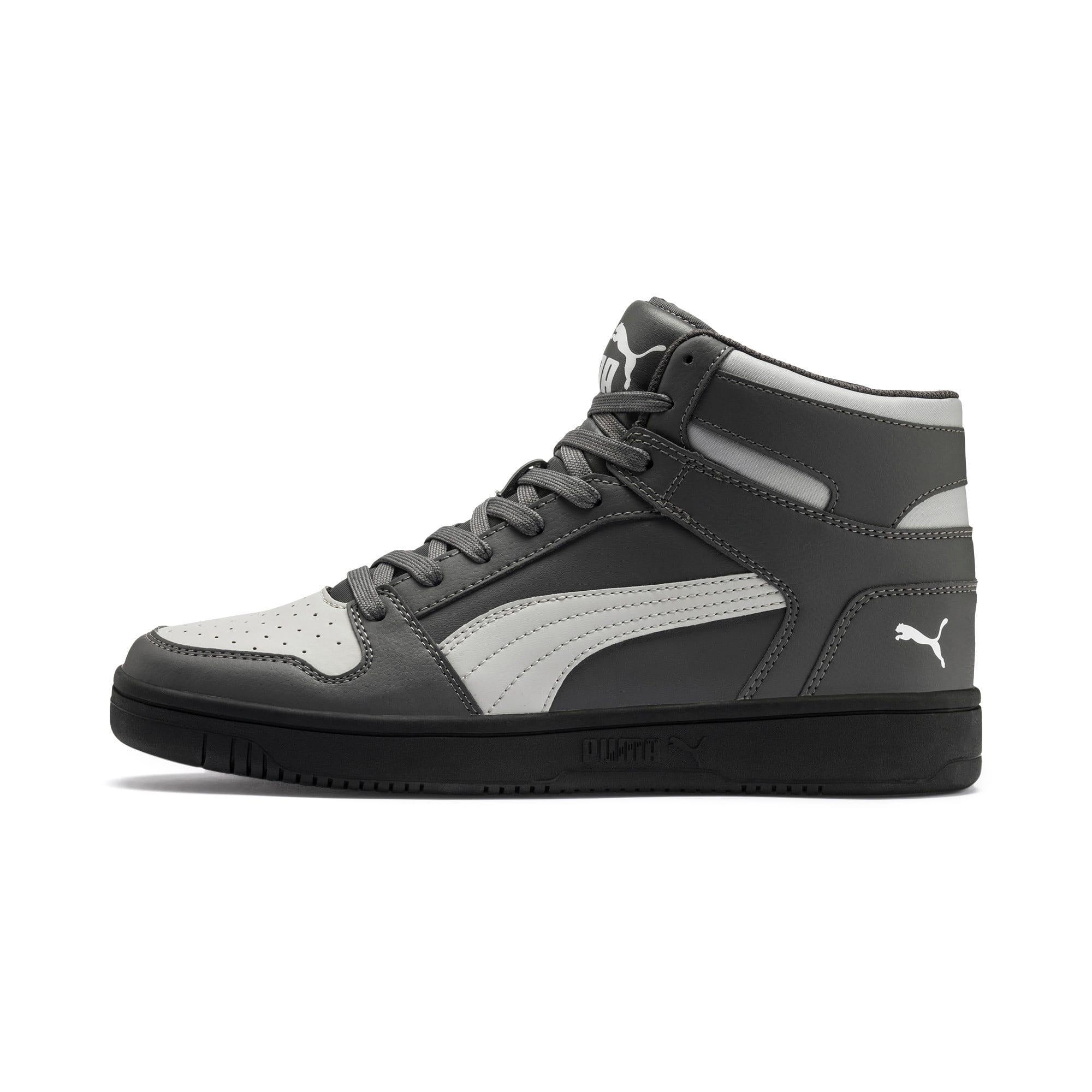 Thumbnail 1 of PUMA Rebound LayUp Sneakers, CASTLEROCK-HRise-White-Black, medium