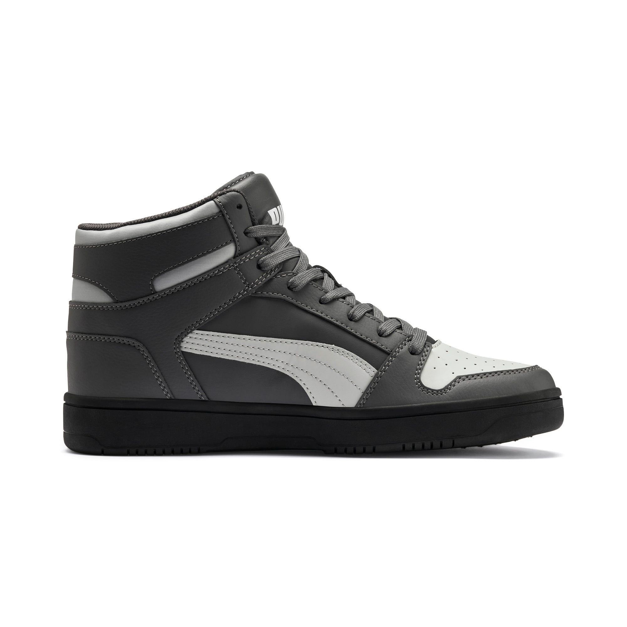 Thumbnail 6 of PUMA Rebound LayUp Sneakers, CASTLEROCK-HRise-White-Black, medium