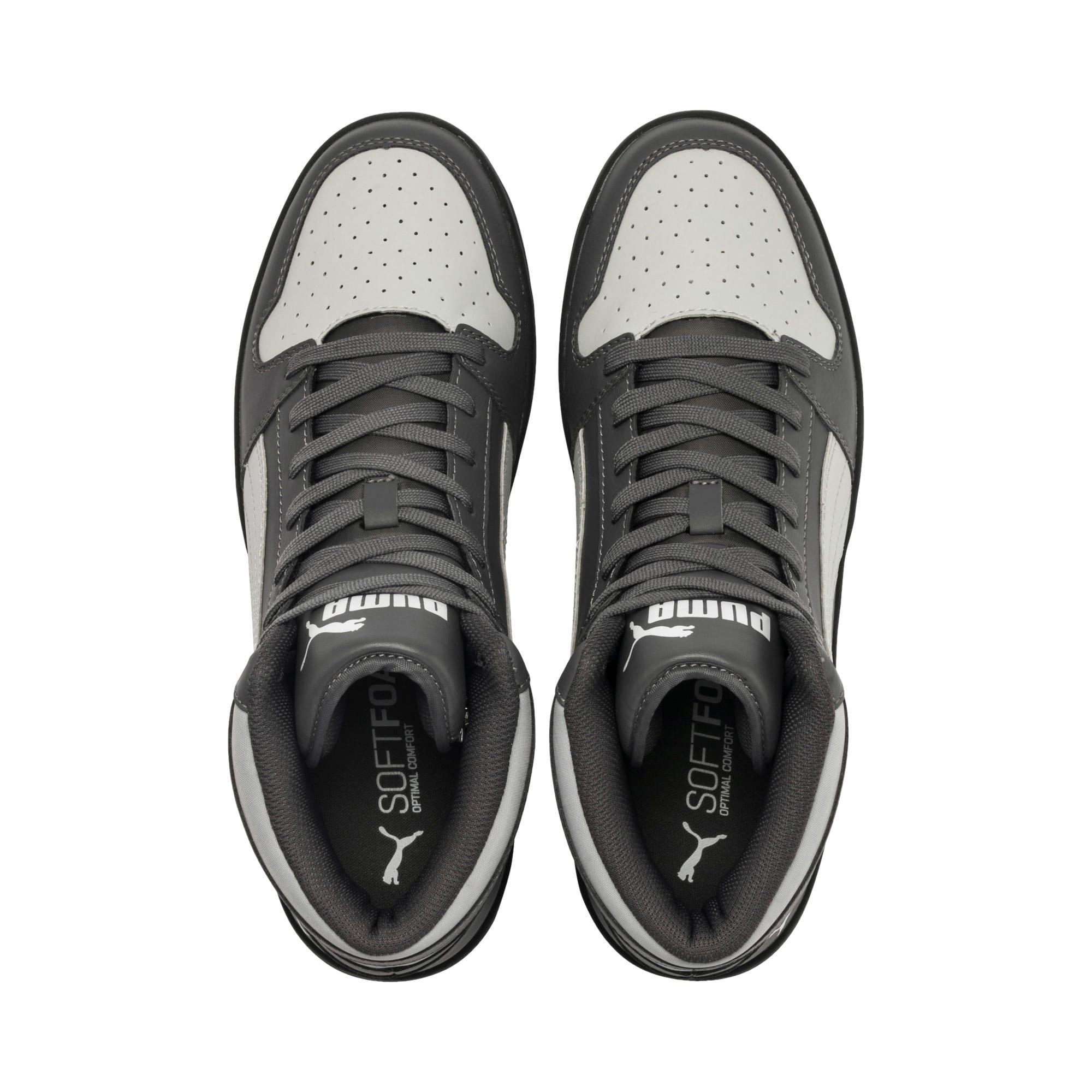 Thumbnail 7 of PUMA Rebound LayUp Sneakers, CASTLEROCK-HRise-White-Black, medium
