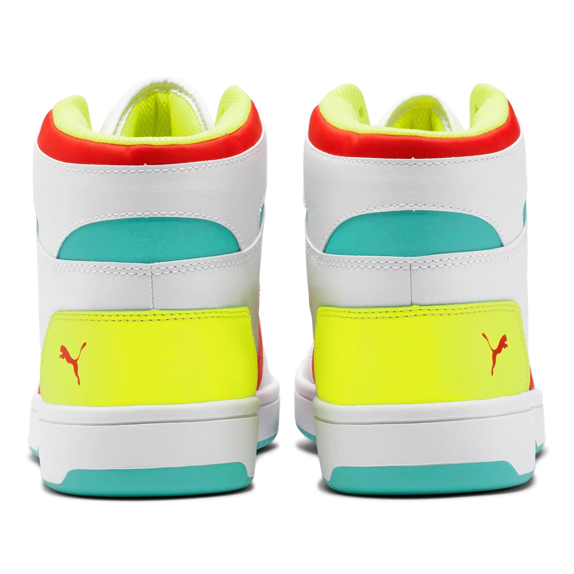 Thumbnail 3 of PUMA Rebound LayUp Sneakers, White-Red-Blue T-Yellow A, medium