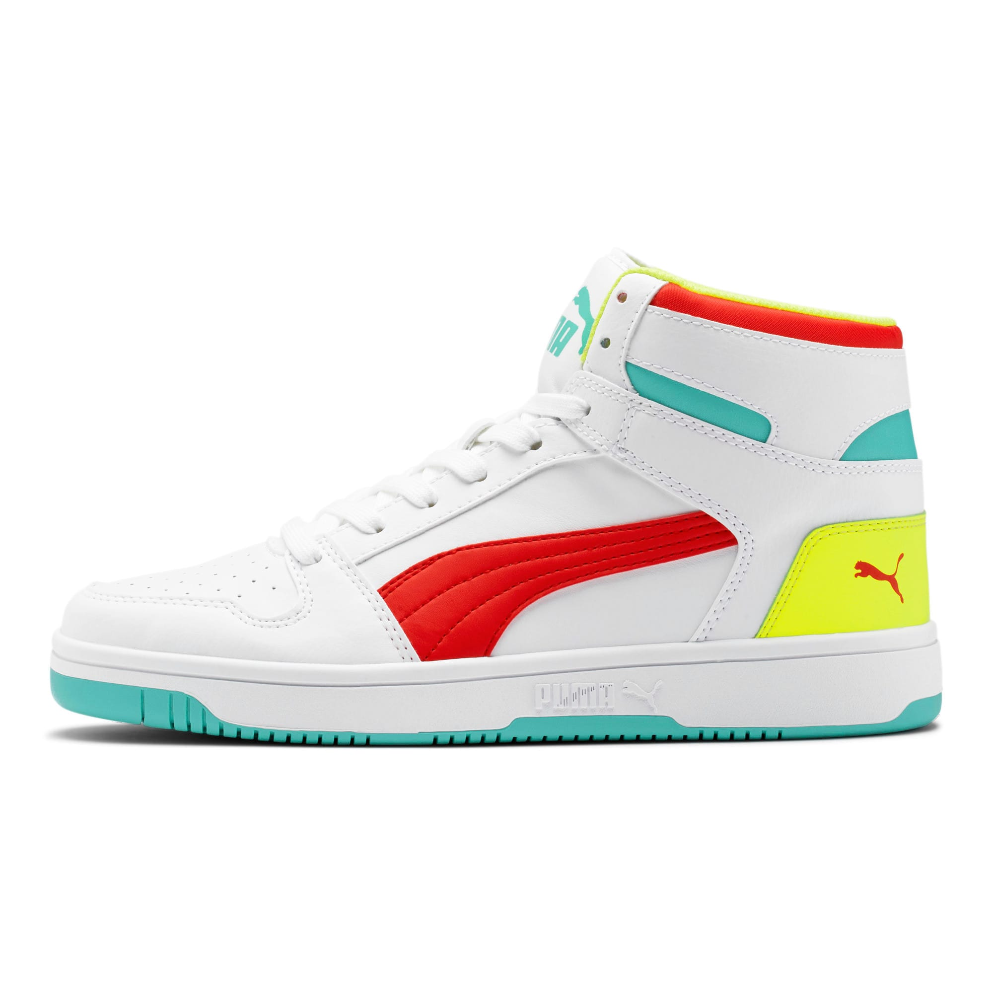 Thumbnail 1 of PUMA Rebound LayUp Sneakers, White-Red-Blue T-Yellow A, medium