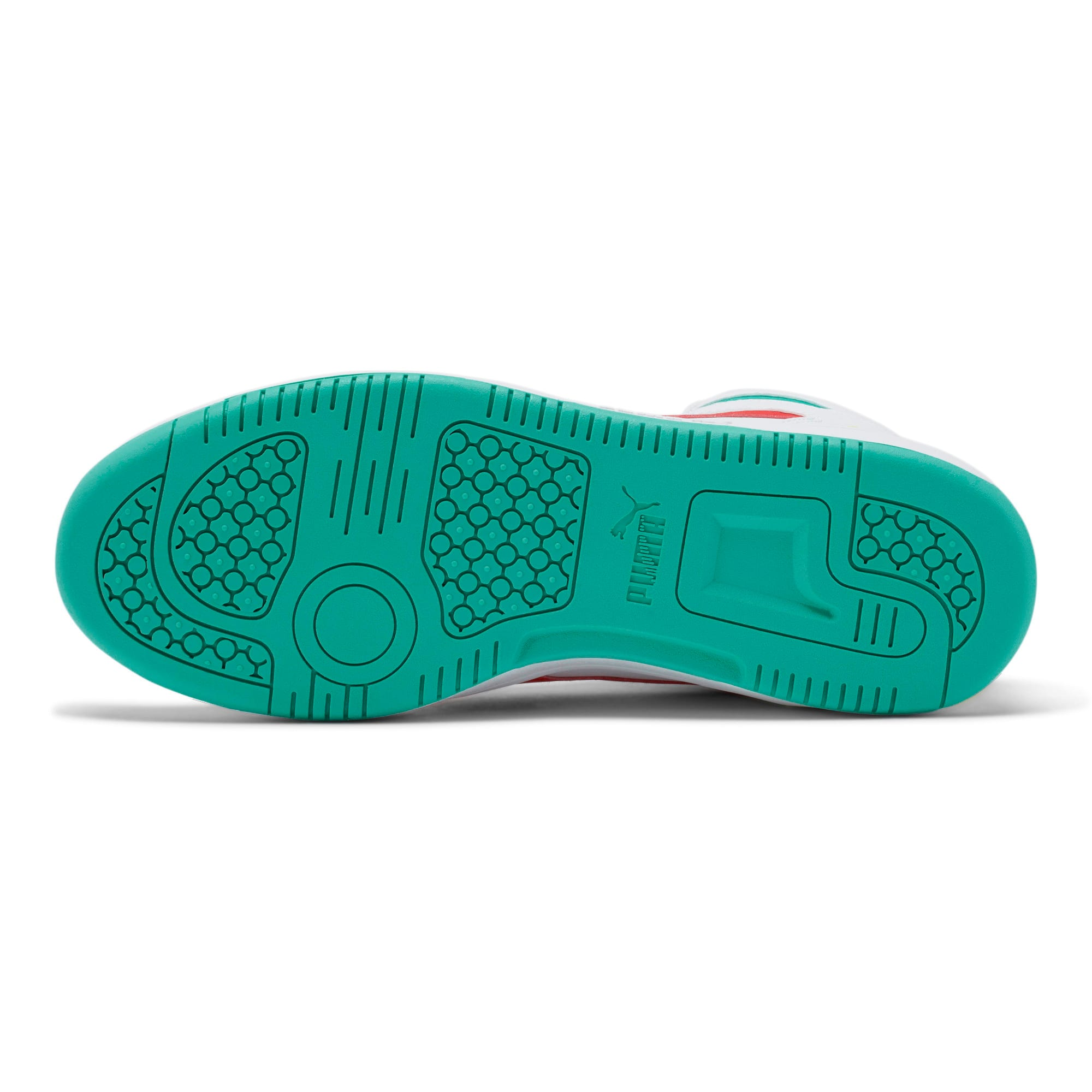 Thumbnail 4 of PUMA Rebound LayUp Sneakers, White-Red-Blue T-Yellow A, medium