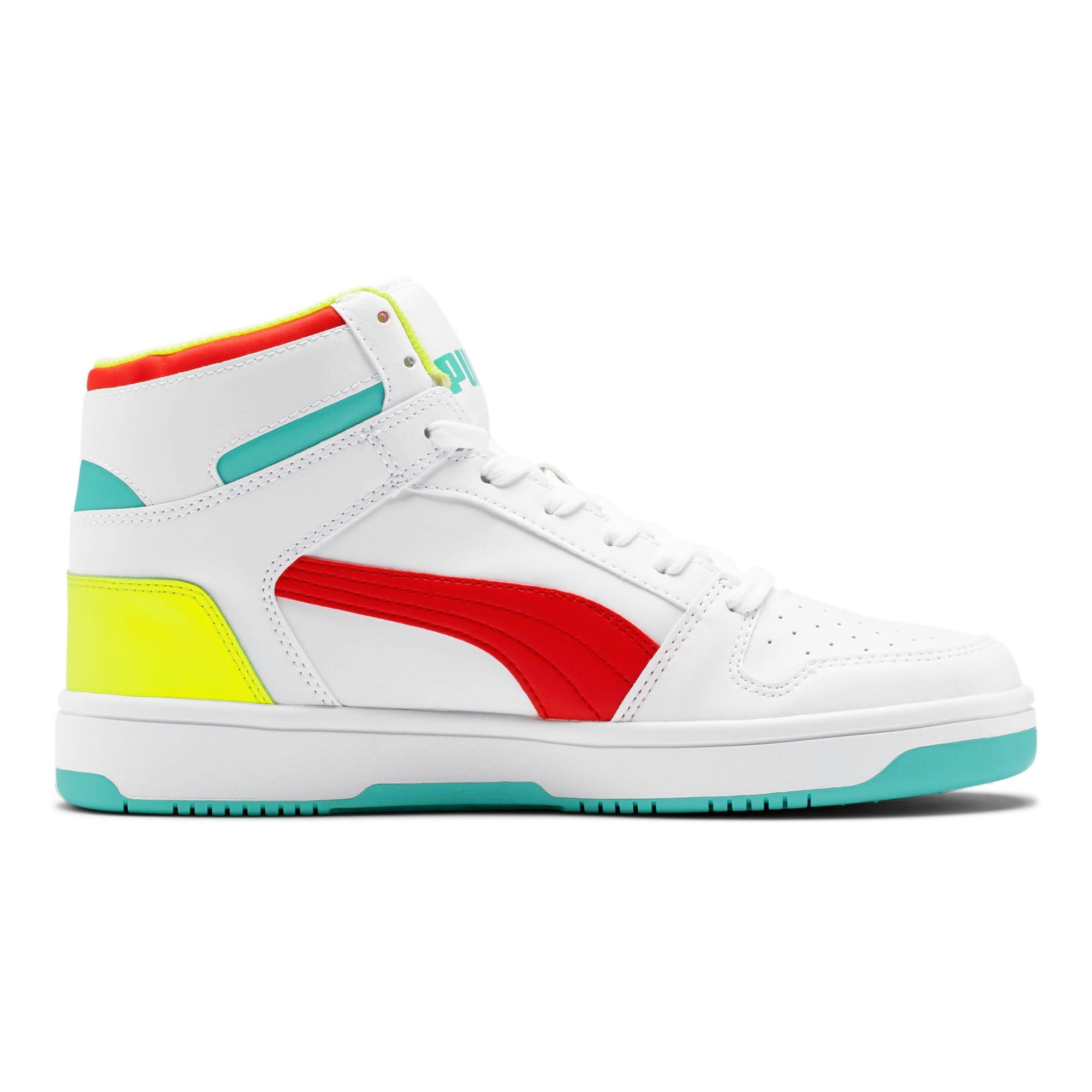Thumbnail 5 of PUMA Rebound LayUp Sneakers, White-Red-Blue T-Yellow A, medium