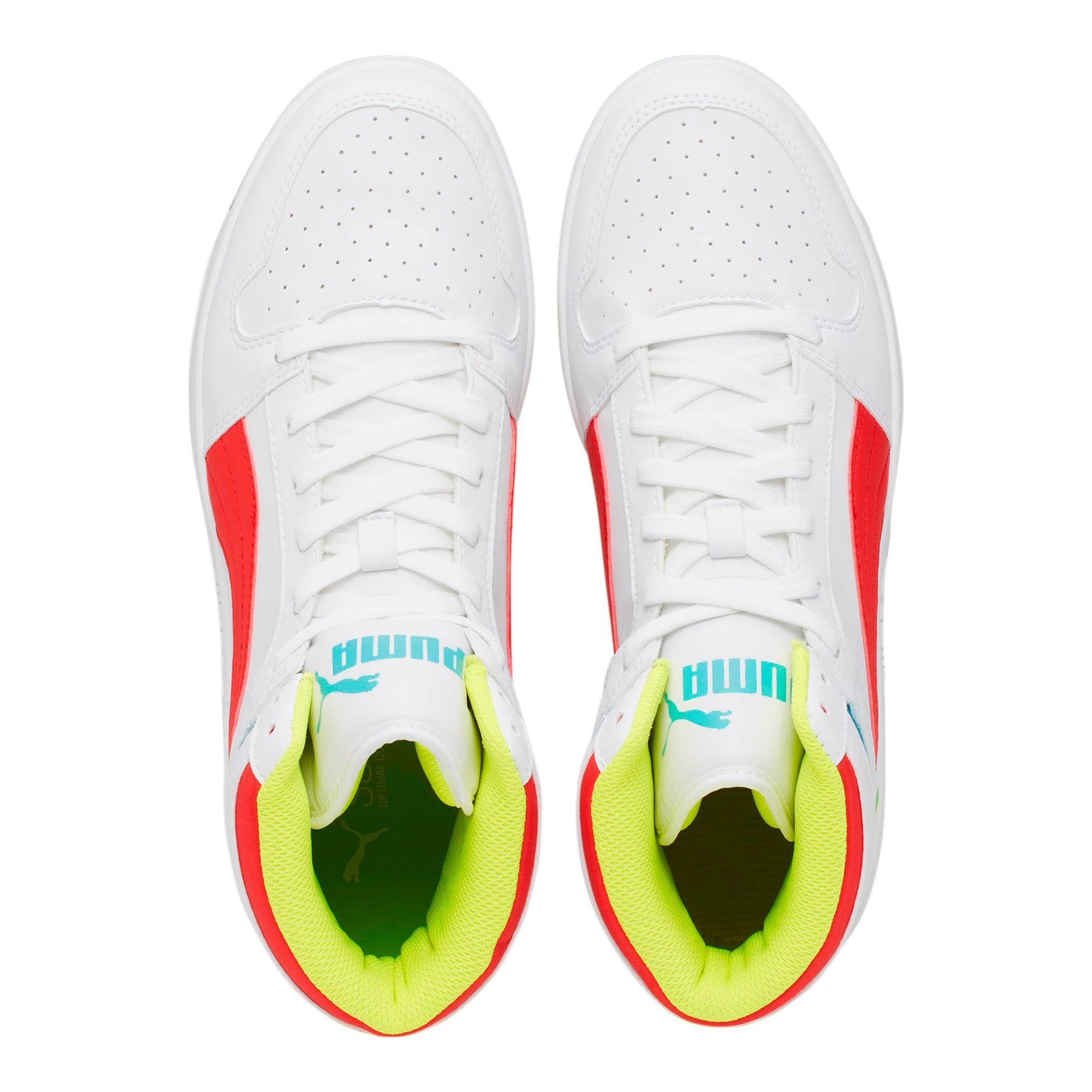 Thumbnail 6 of PUMA Rebound LayUp Sneakers, White-Red-Blue T-Yellow A, medium