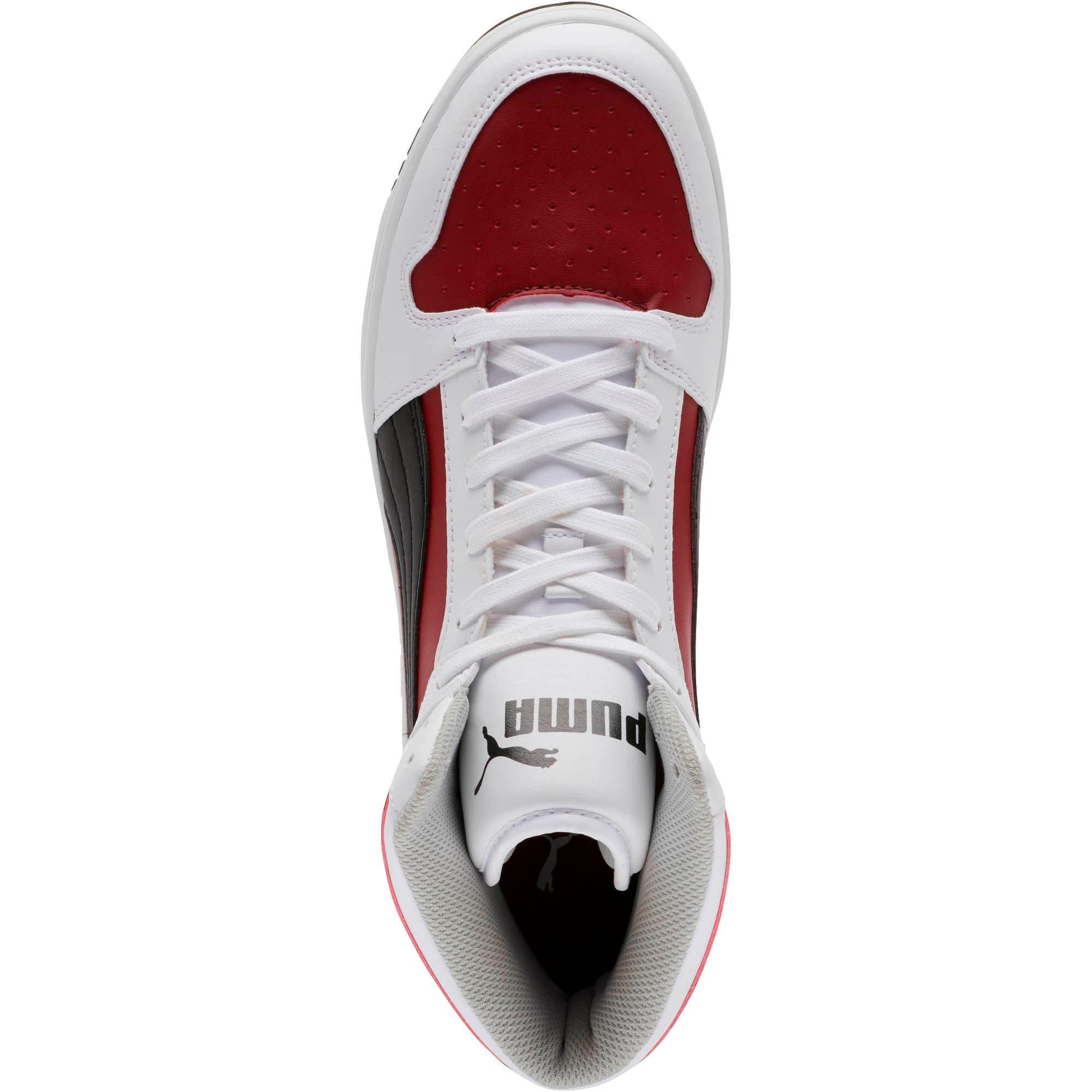 Thumbnail 5 of PUMA Rebound LayUp Sneakers, White-Black-Rhubarb-HighRise, medium