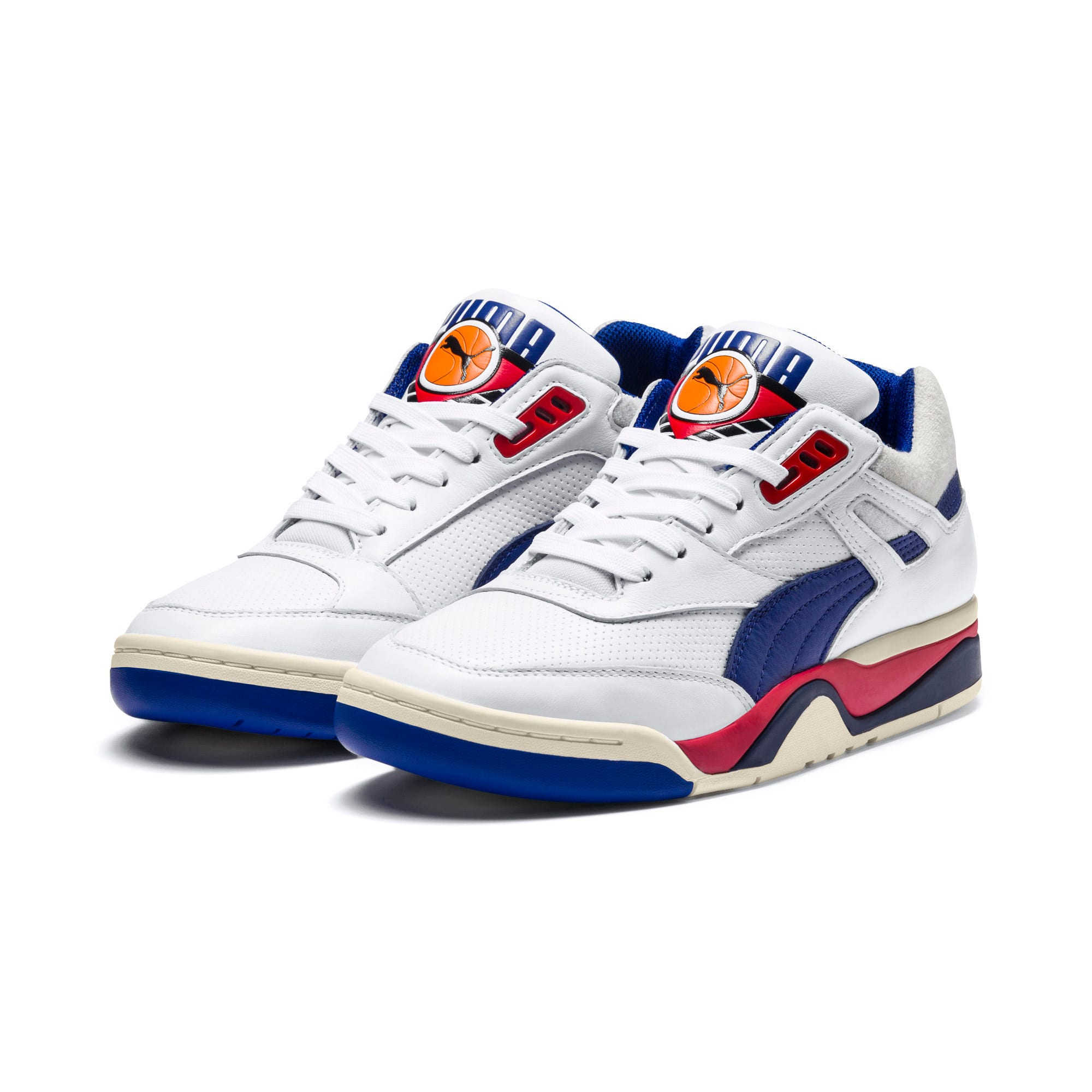 Thumbnail 2 of Palace Guard OG Trainers, Puma White-Surf The Web-Red, medium