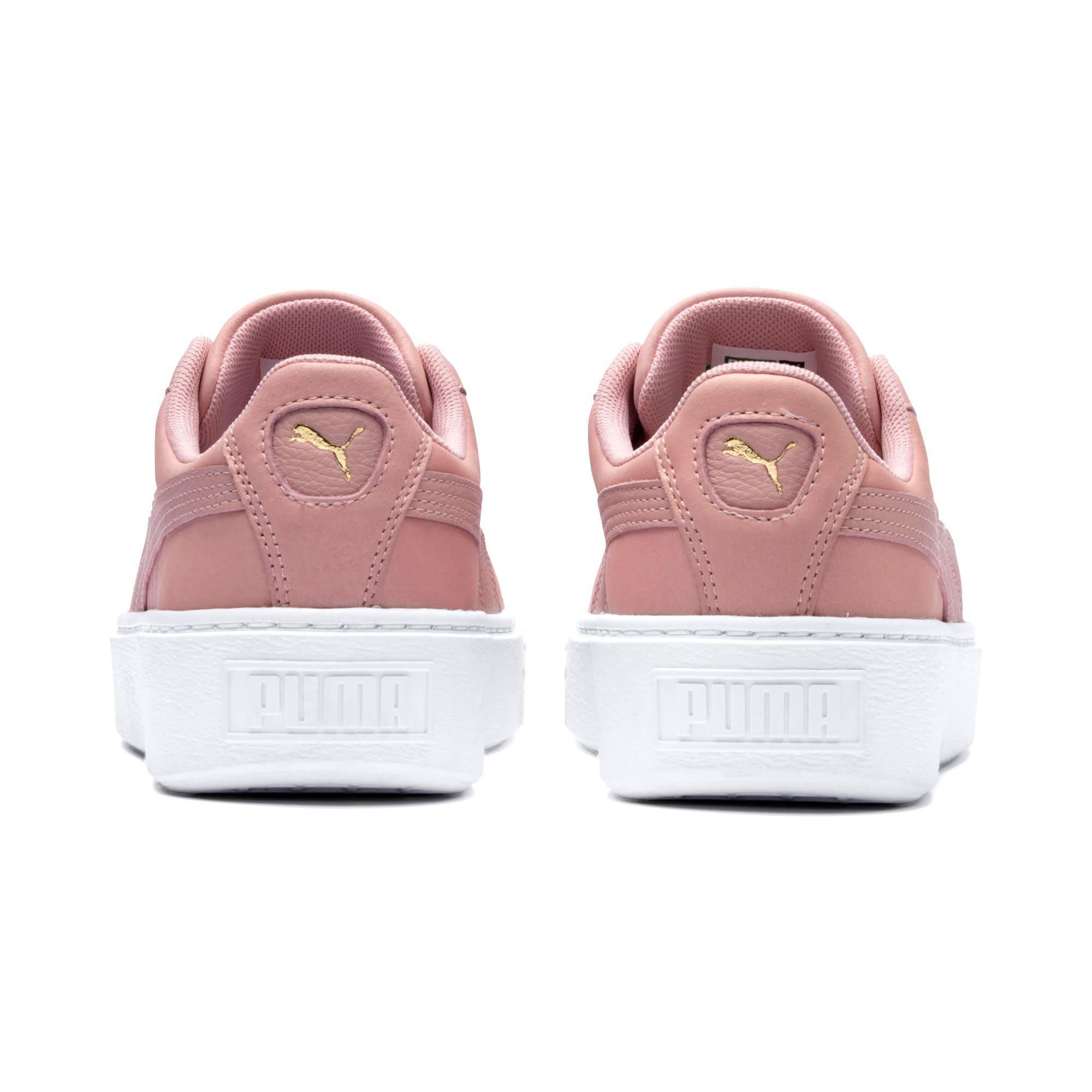 Miniatura 4 de Zapatos deportivos Suede con brillo y plataforma para mujer, Bridal Rose-Puma White, mediano