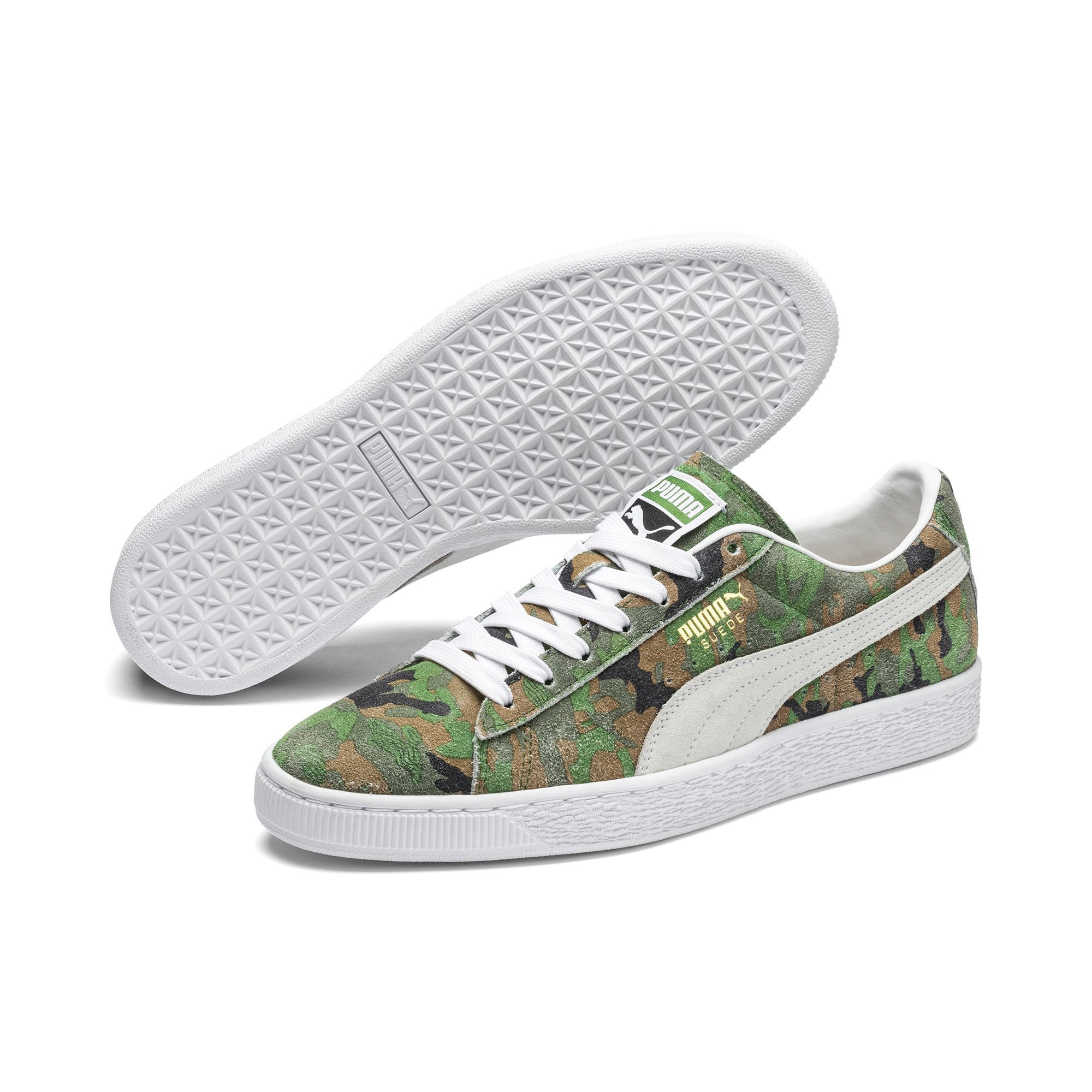 Thumbnail 2 of Suede Classic Ambush Sneakers, Dachsund-Green-Black-White, medium