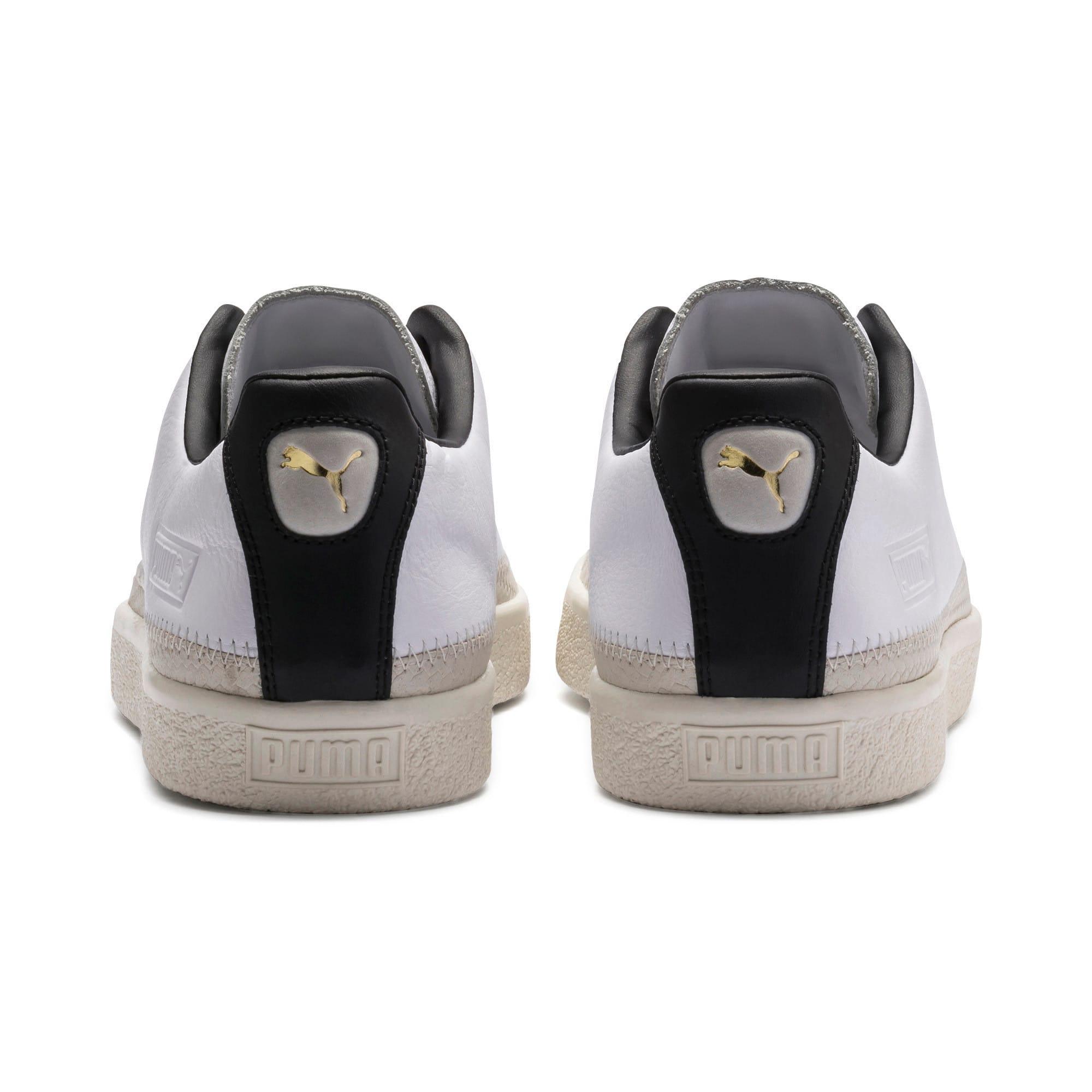 Thumbnail 4 of Basket Trim Shoes, Puma White-Whisper W-Black, medium-IND