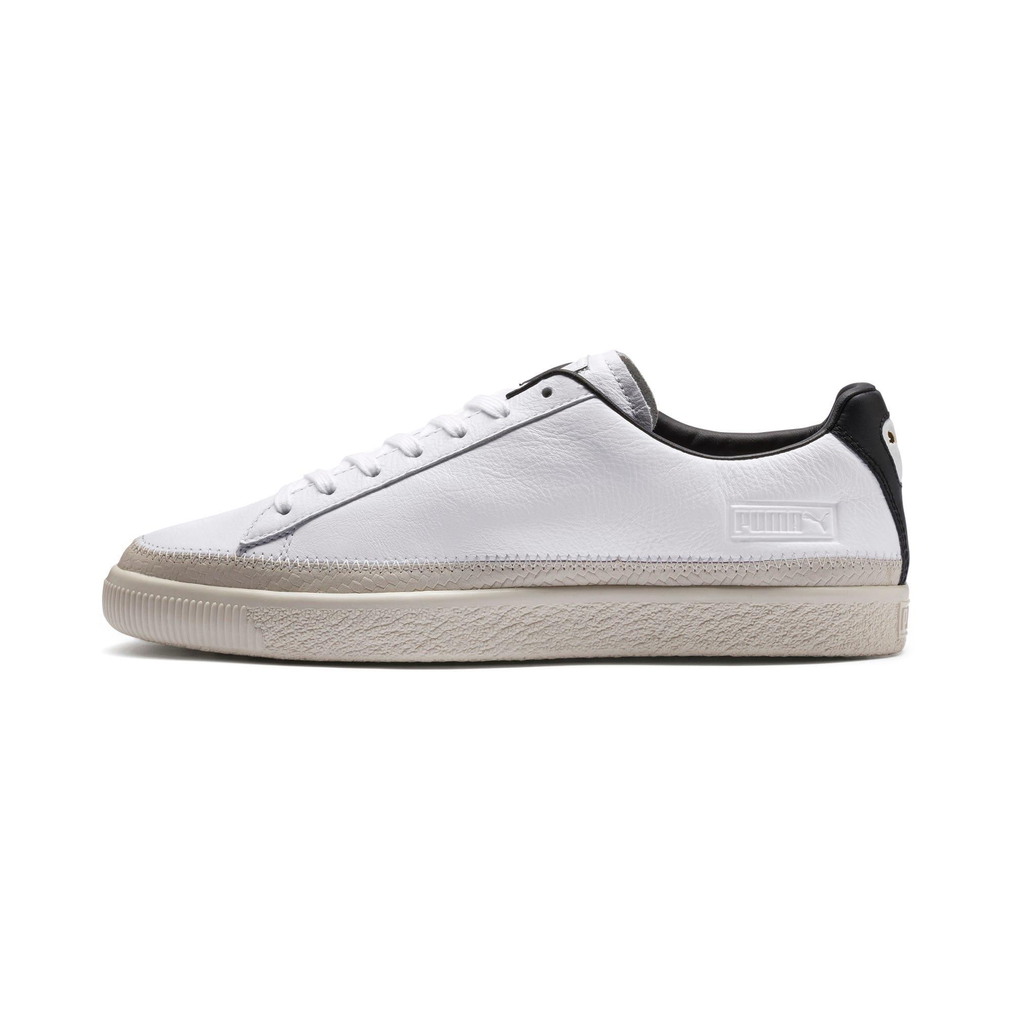 Thumbnail 1 of Basket Trim Shoes, Puma White-Whisper W-Black, medium-IND