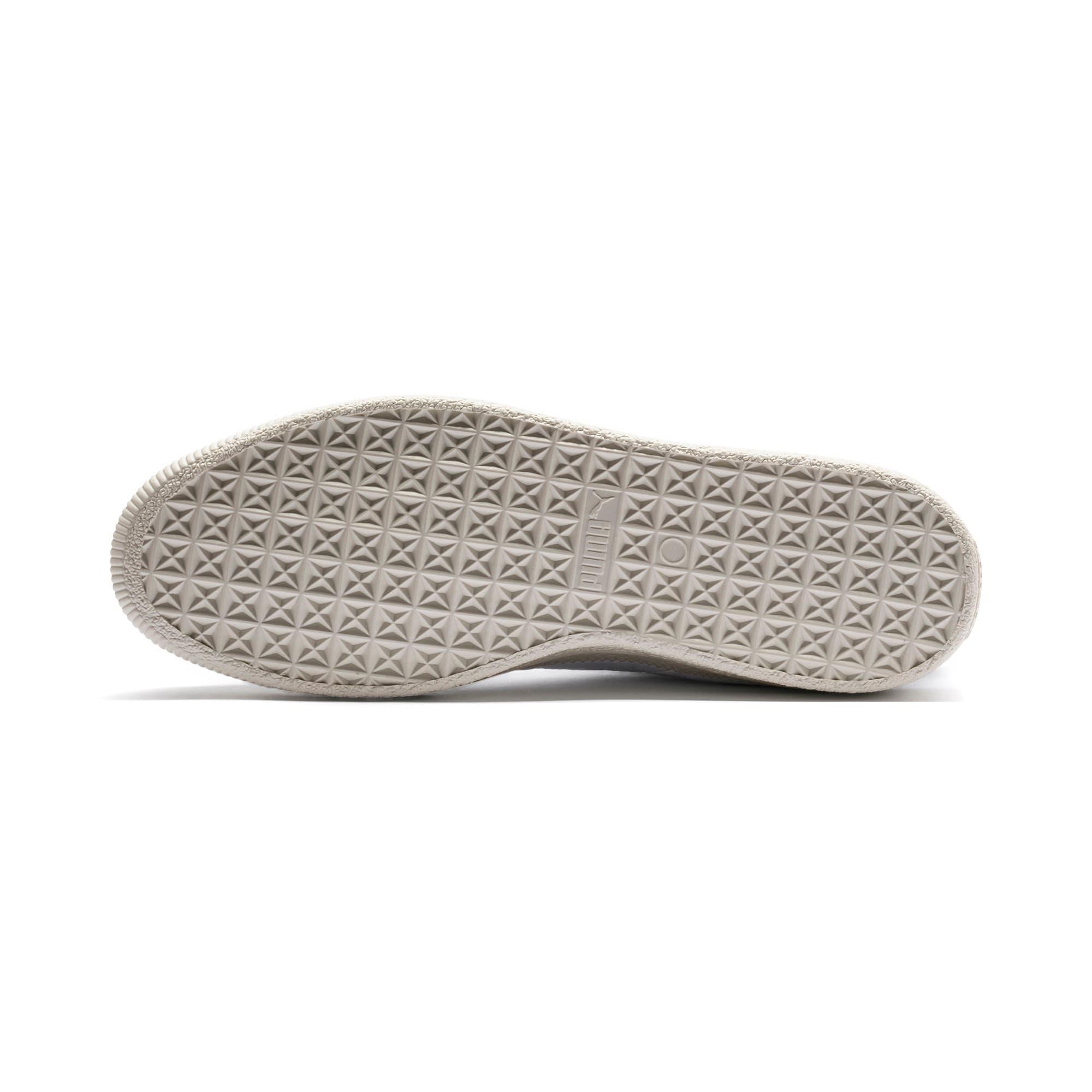 Thumbnail 7 of Basket Trim Shoes, Puma White-Whisper W-Black, medium-IND