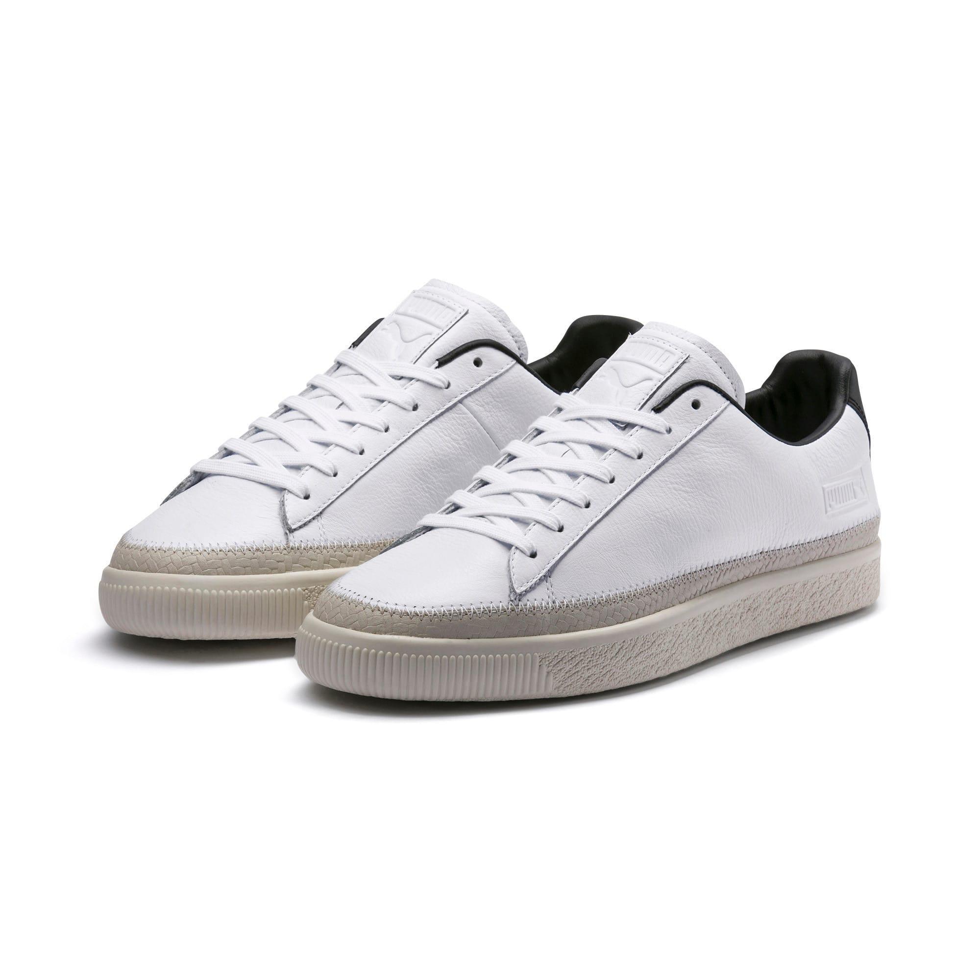 Thumbnail 8 of Basket Trim Shoes, Puma White-Whisper W-Black, medium-IND