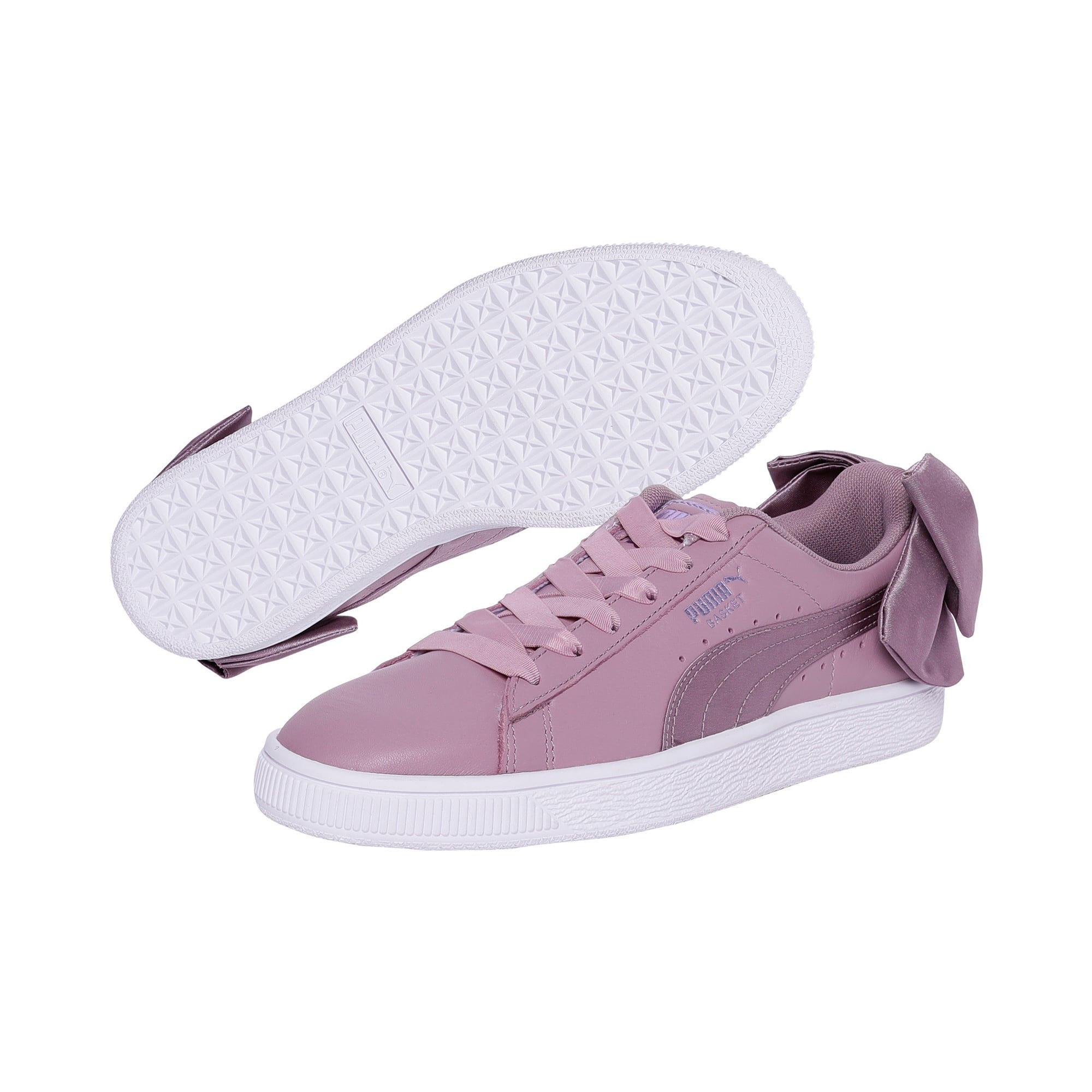 Thumbnail 2 of Basket Women's Bow Satin Sneakers, Elderberry-Puma White, medium-IND